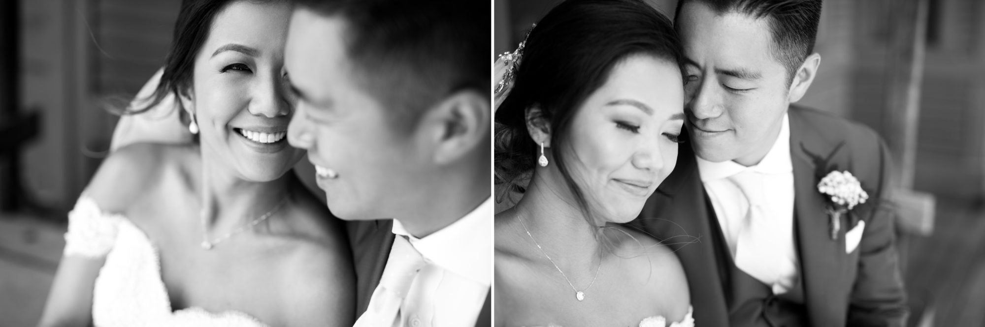 Couple Black and White Toronto Chinese Korean Wedding Zsuzsi Pal Photography