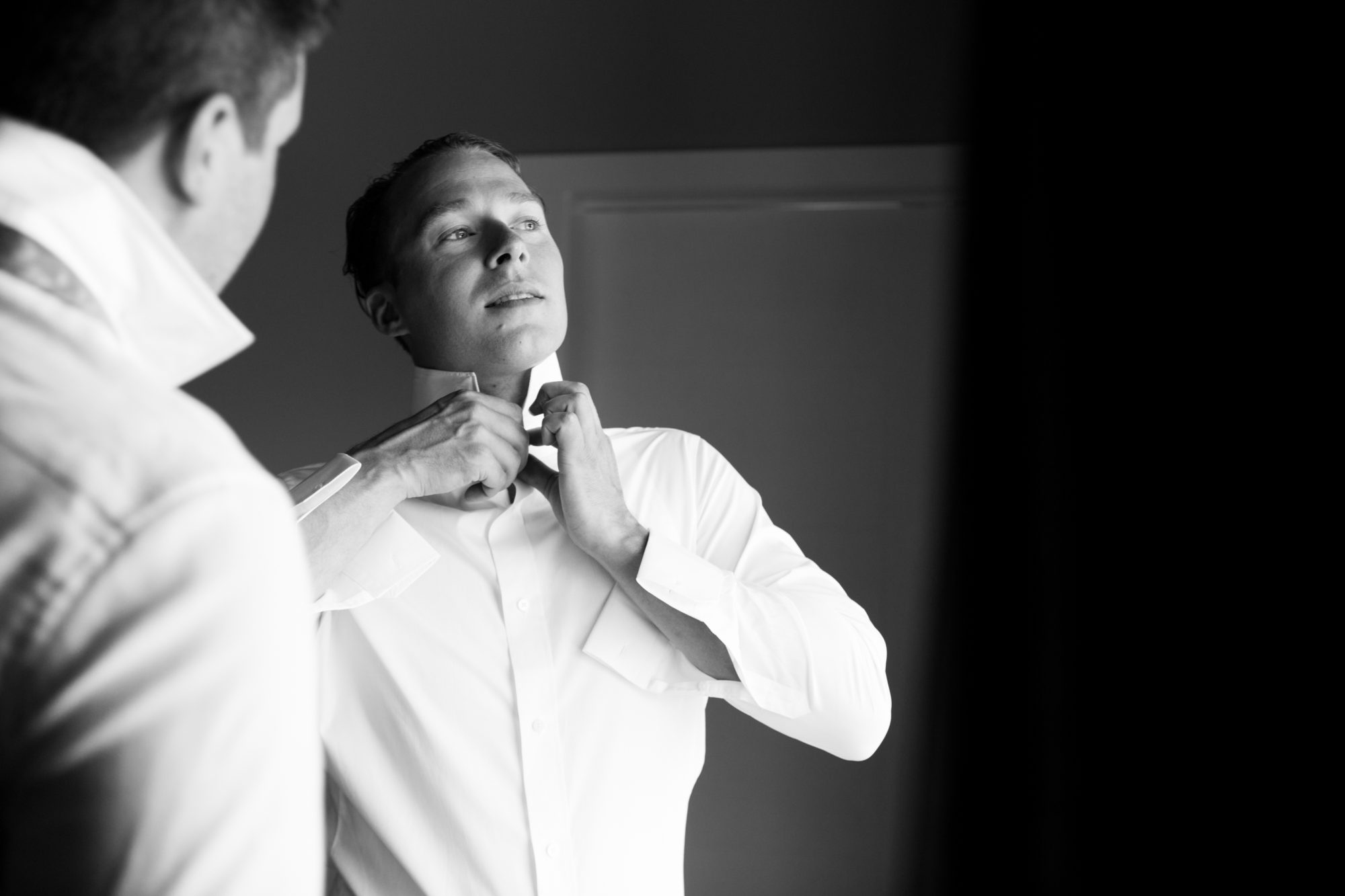 Groom Prep Hope Wedding British Columbia American Creek Lodge Zsuzsi Pal Photography