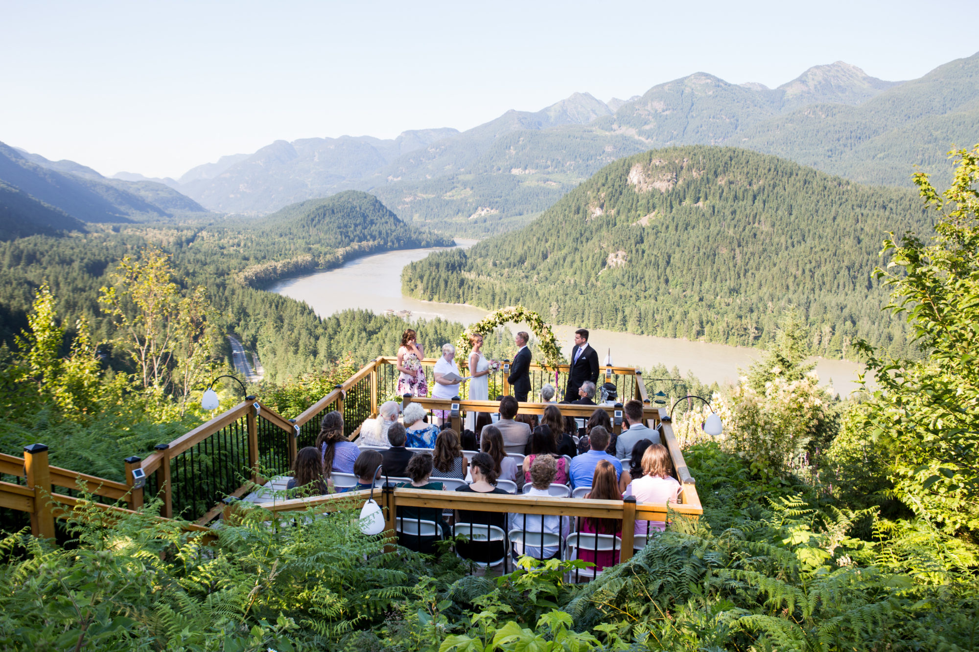 Outdoor Ceremony Hope Wedding British Columbia American Creek Lodge Zsuzsi Pal Photography