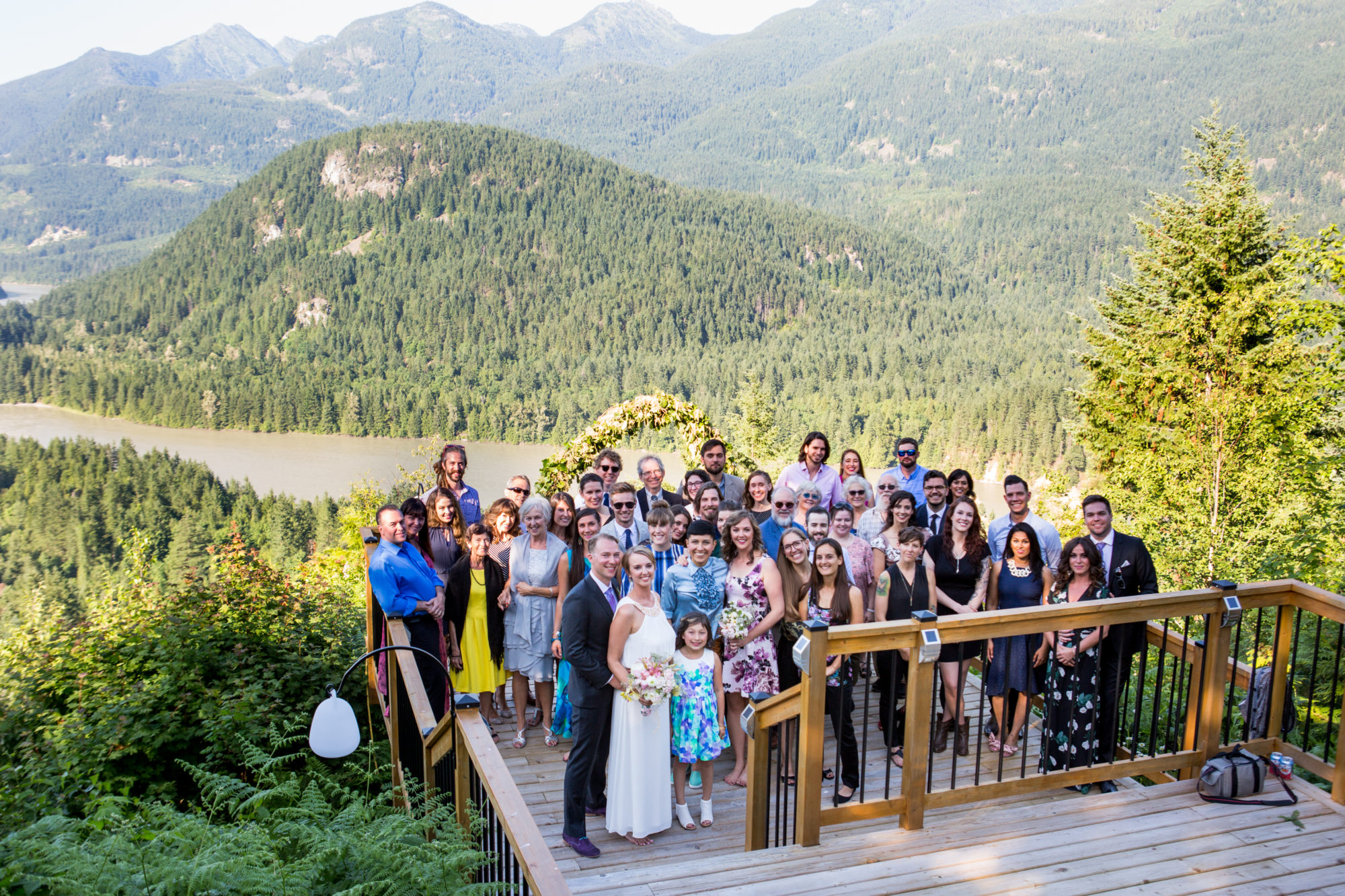 Wedding Guests Hope Wedding British Columbia American Creek Lodge Zsuzsi Pal Photography