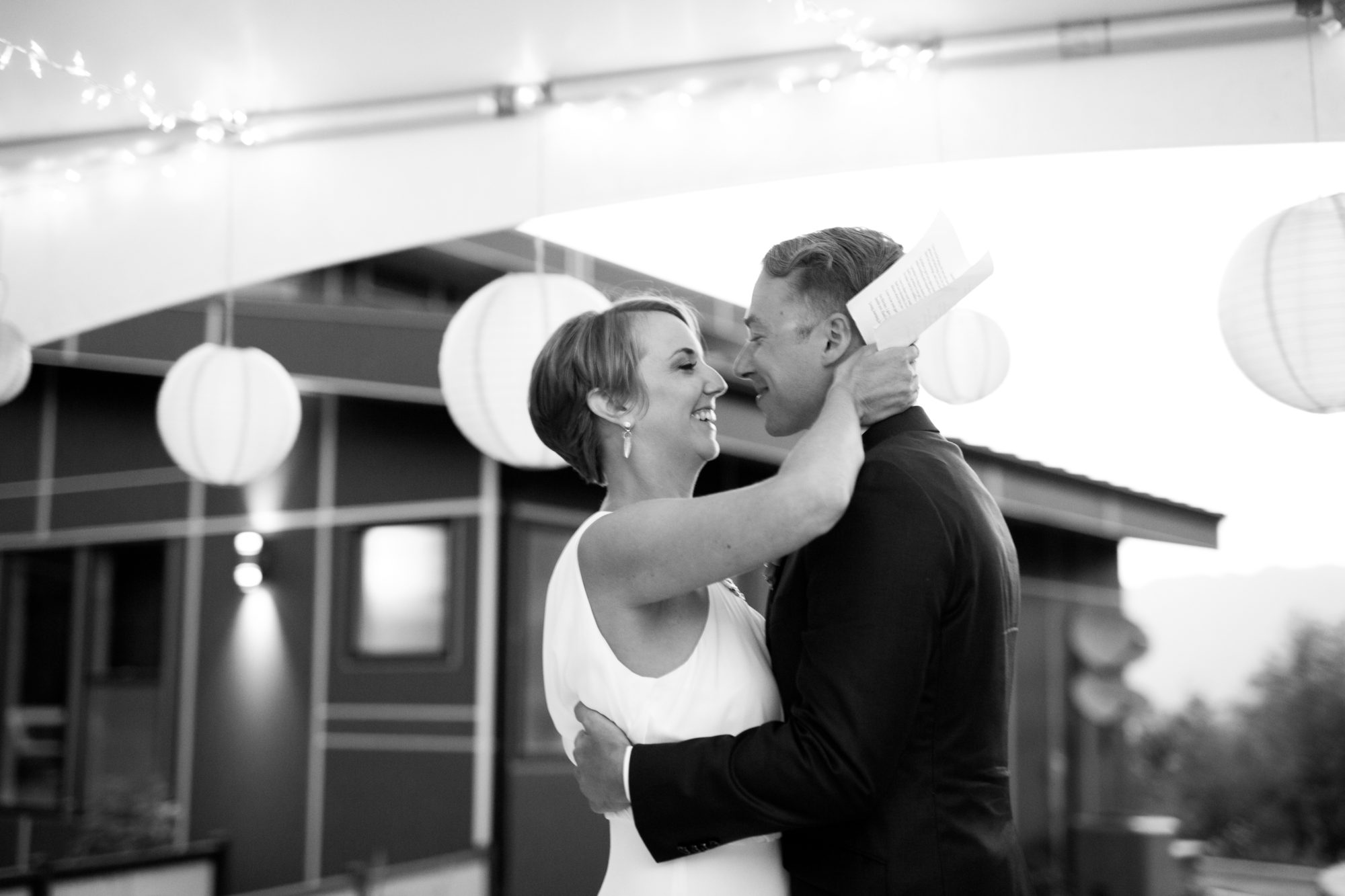 Reception Kiss Hope Wedding British Columbia American Creek Lodge Zsuzsi Pal Photography