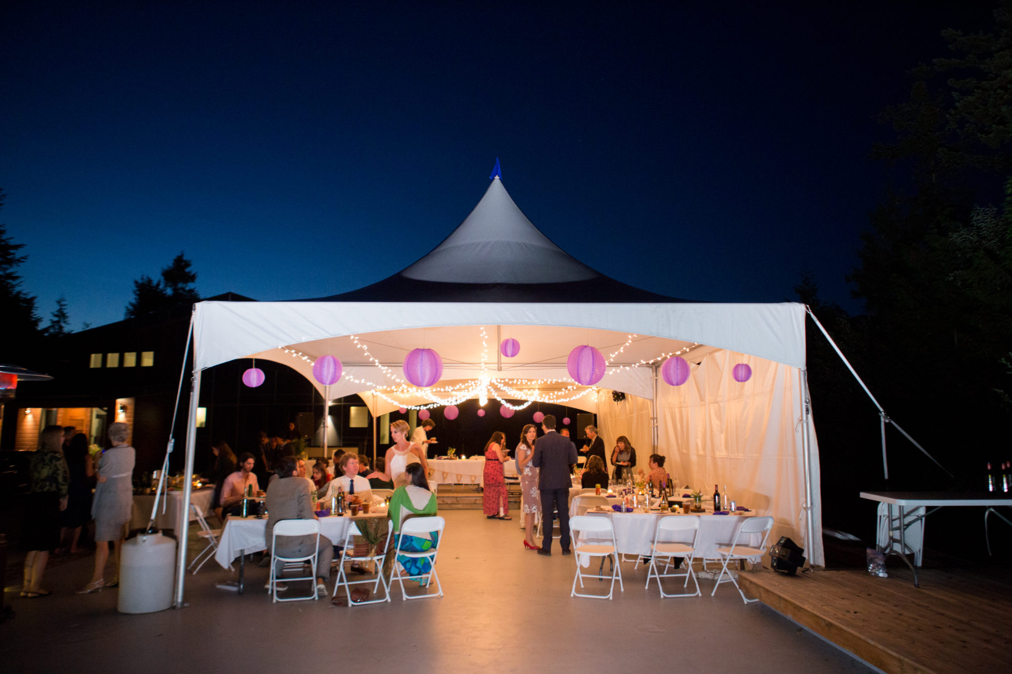 Tent Evening Hope Wedding British Columbia American Creek Lodge Zsuzsi Pal Photography