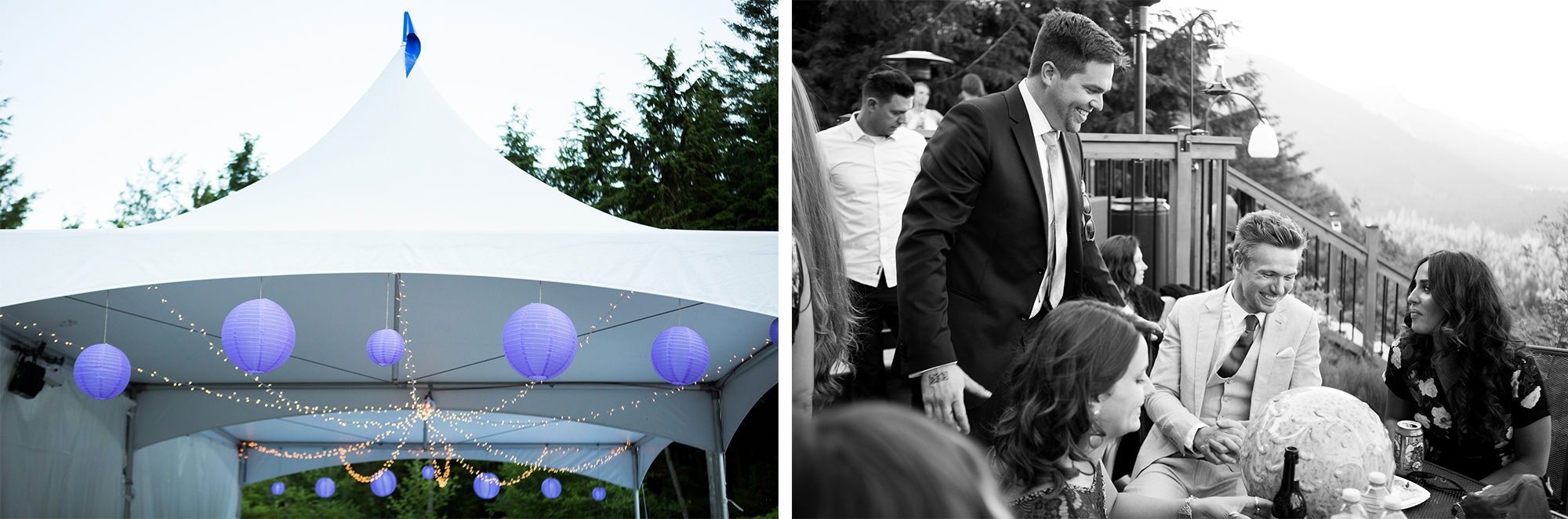 Reception Tent Hope Wedding British Columbia American Creek Lodge Zsuzsi Pal Photography