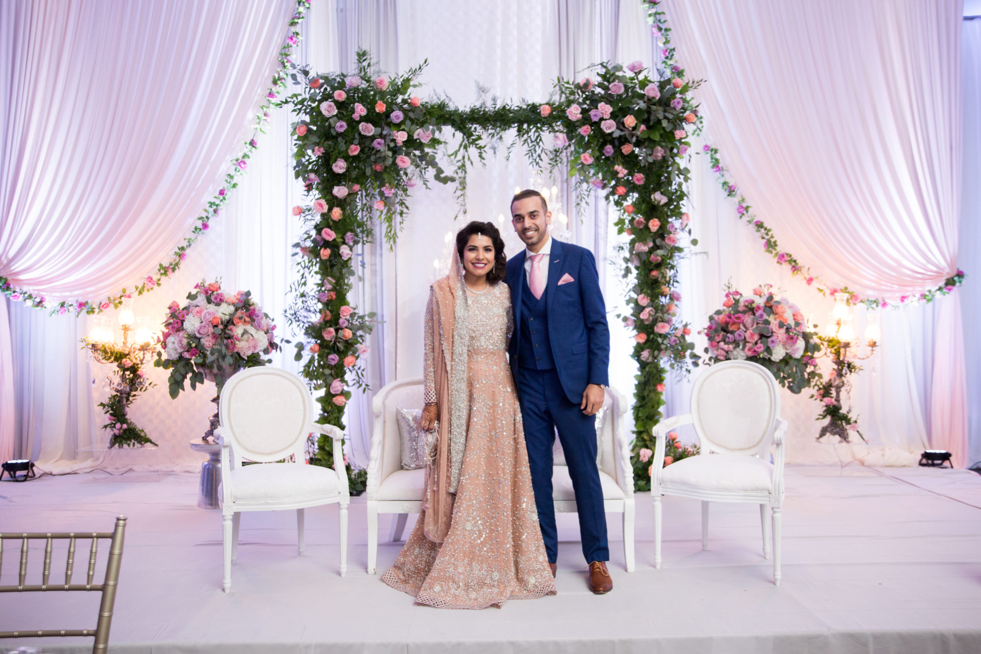 Reception Decor Saba and Jawad Indian Wedding Zsuzsi Pal Photography