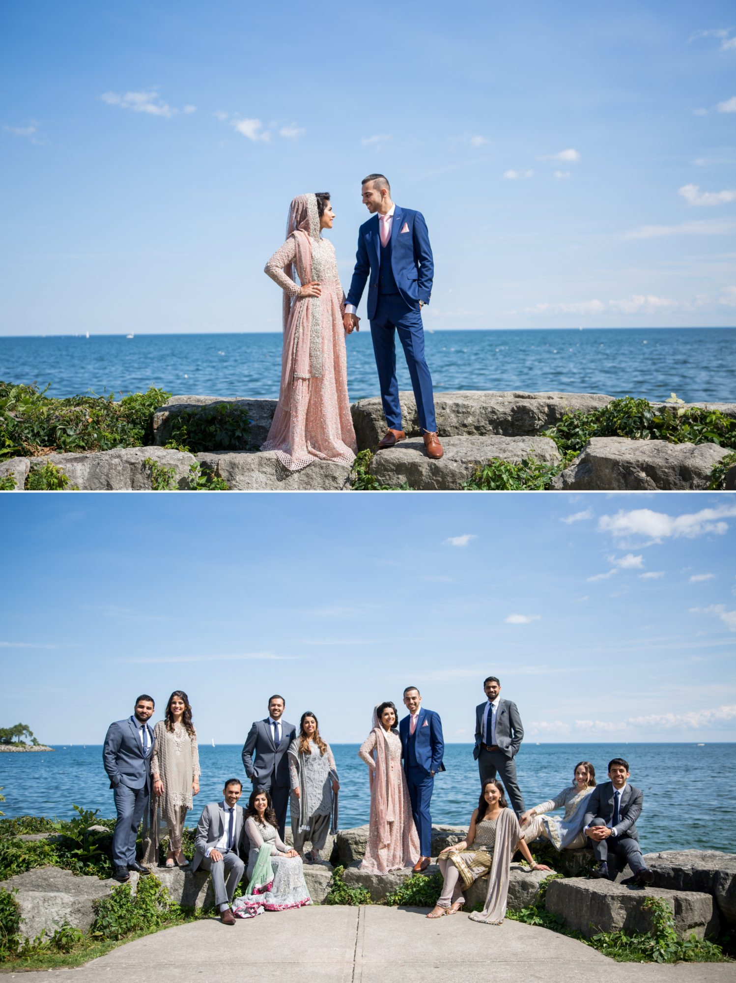 Lake Ontario Bridal Party Saba and Jawad Indian Wedding Zsuzsi Pal Photography