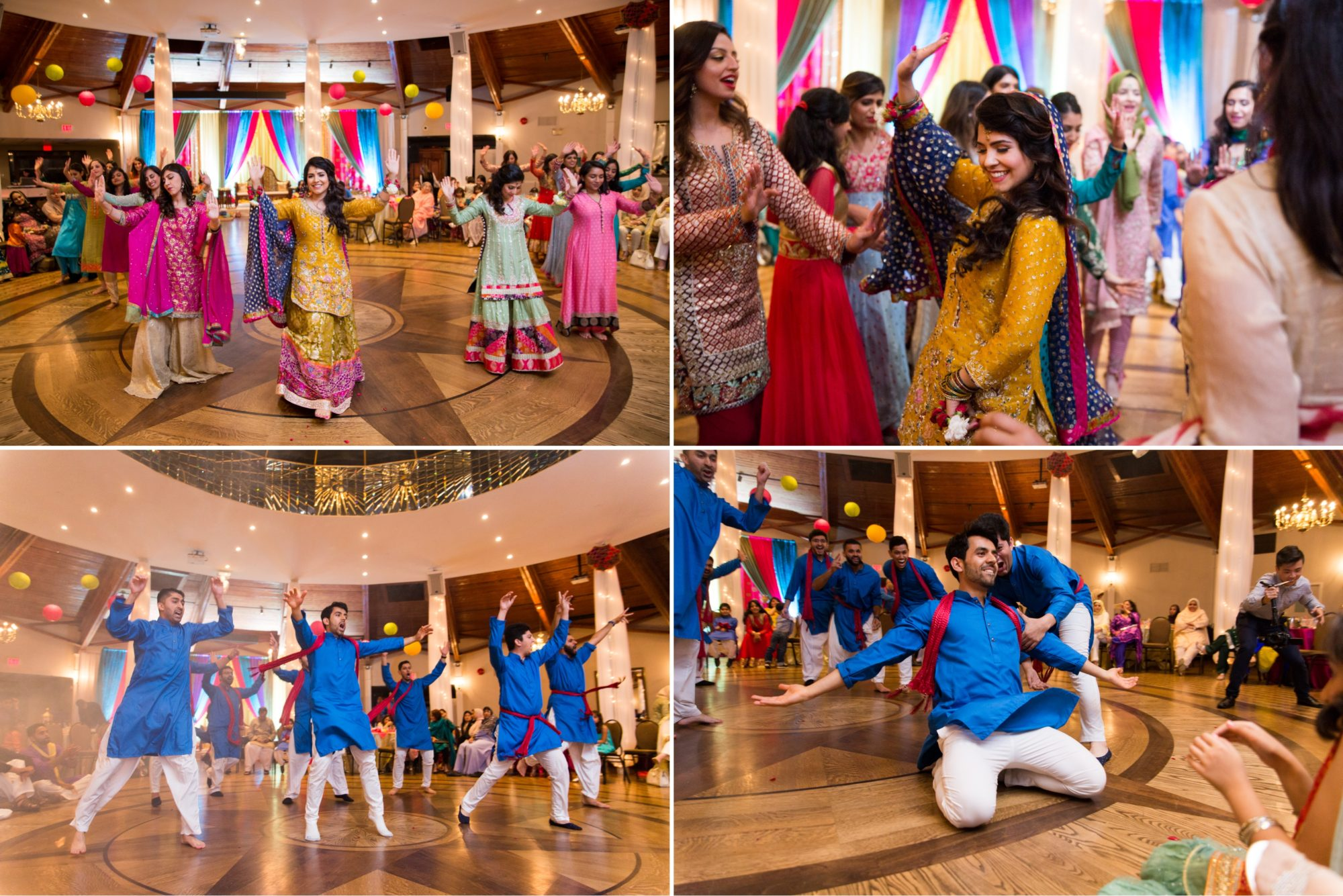 Dance Performance Wedding Mehndi Ceremony Zsuzsi Pal Photography Saba and Jawad