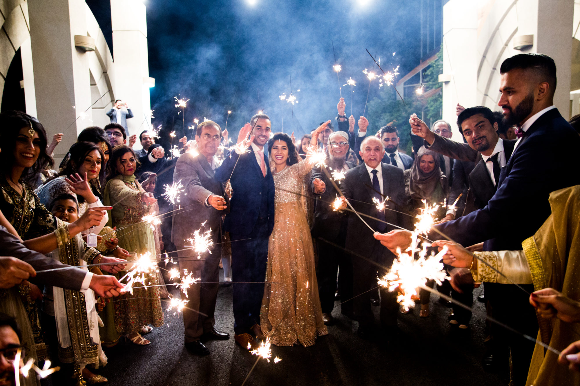 Sparklers Saba and Jawad Indian Wedding Zsuzsi Pal Photography