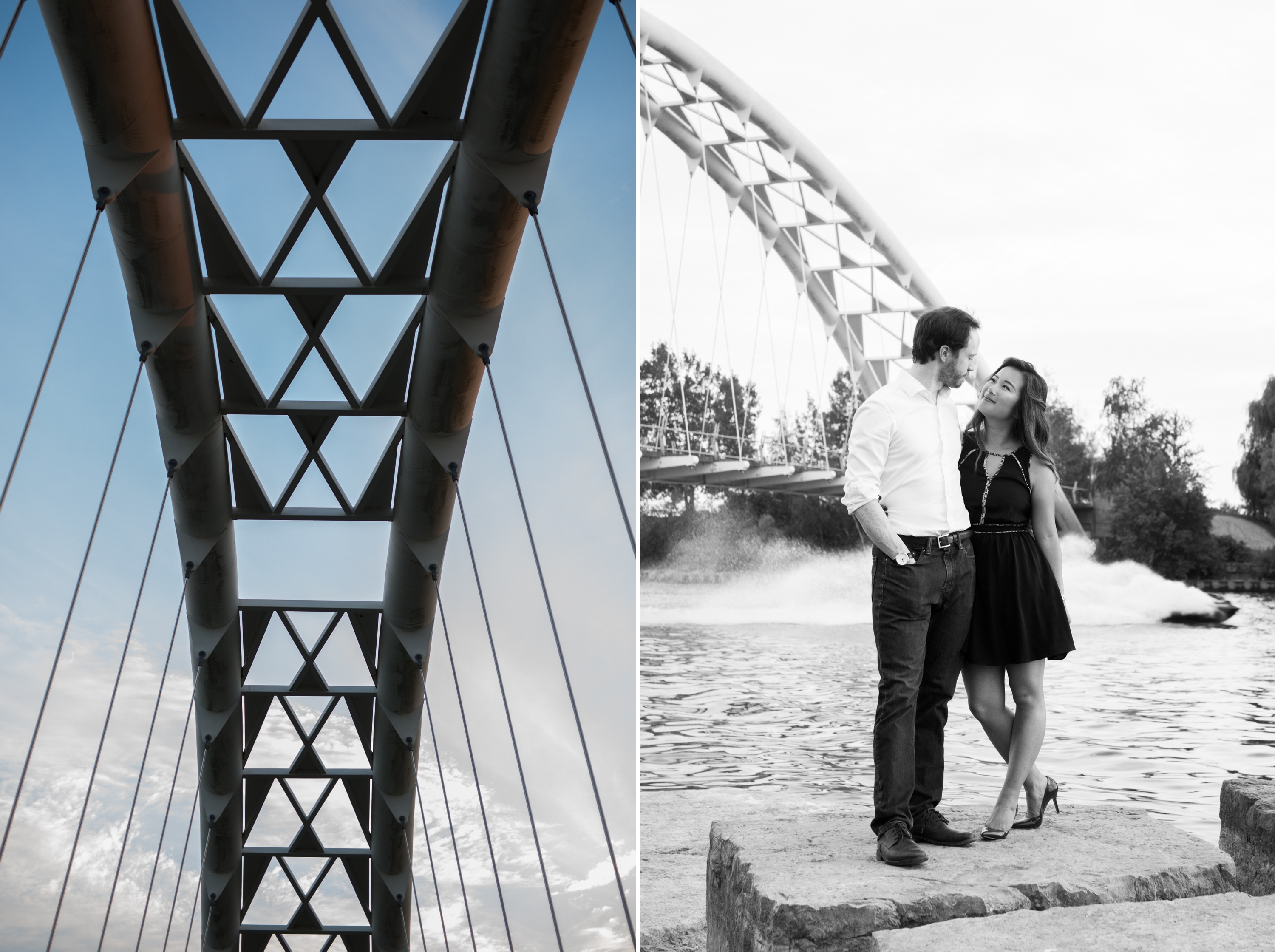 Humber Bay Bridge Toronto Engagement Zsuzsi Pal Photography