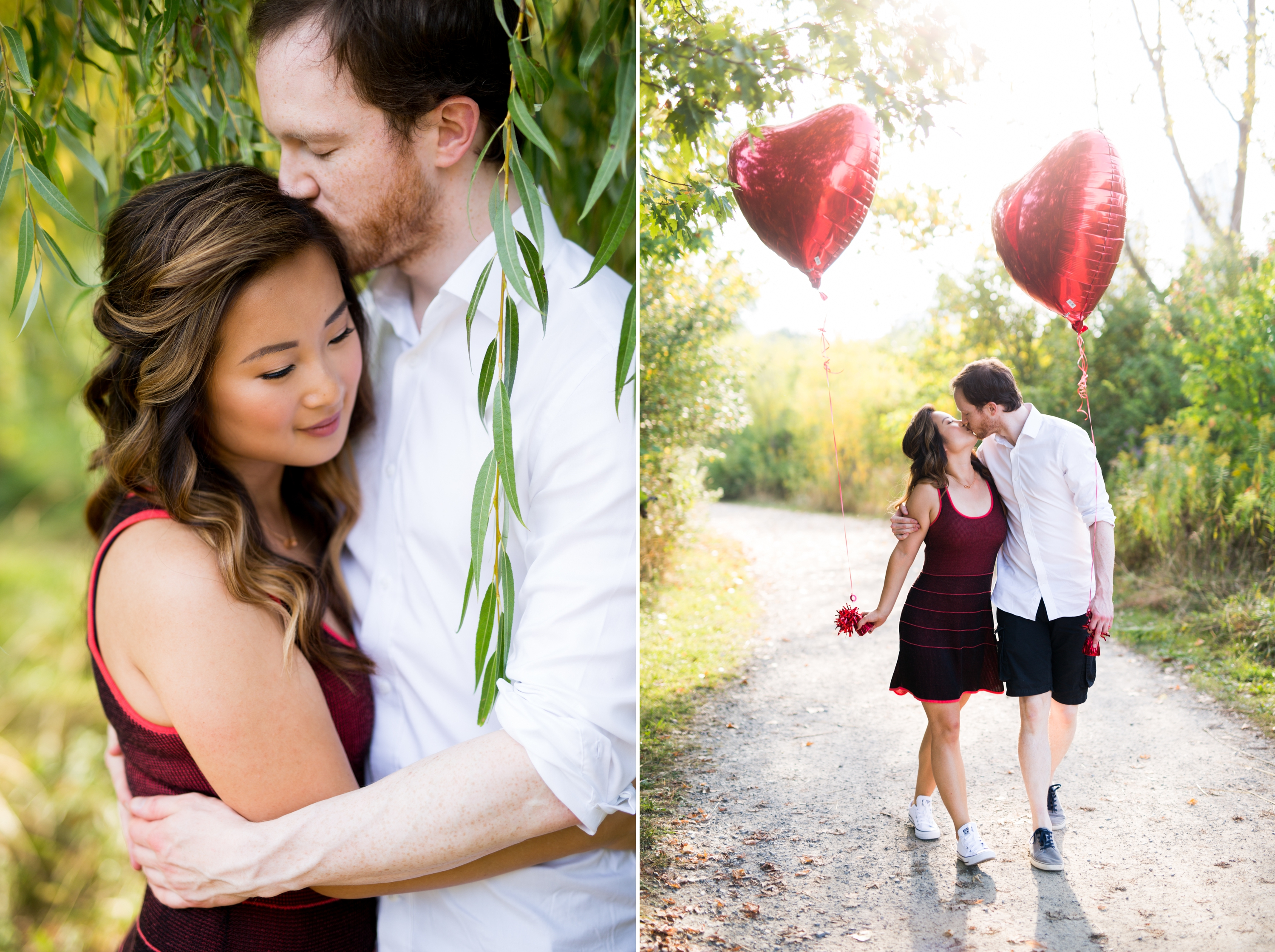 Red Heart Balloon Toronto Engagement Zsuzsi Pal Photography
