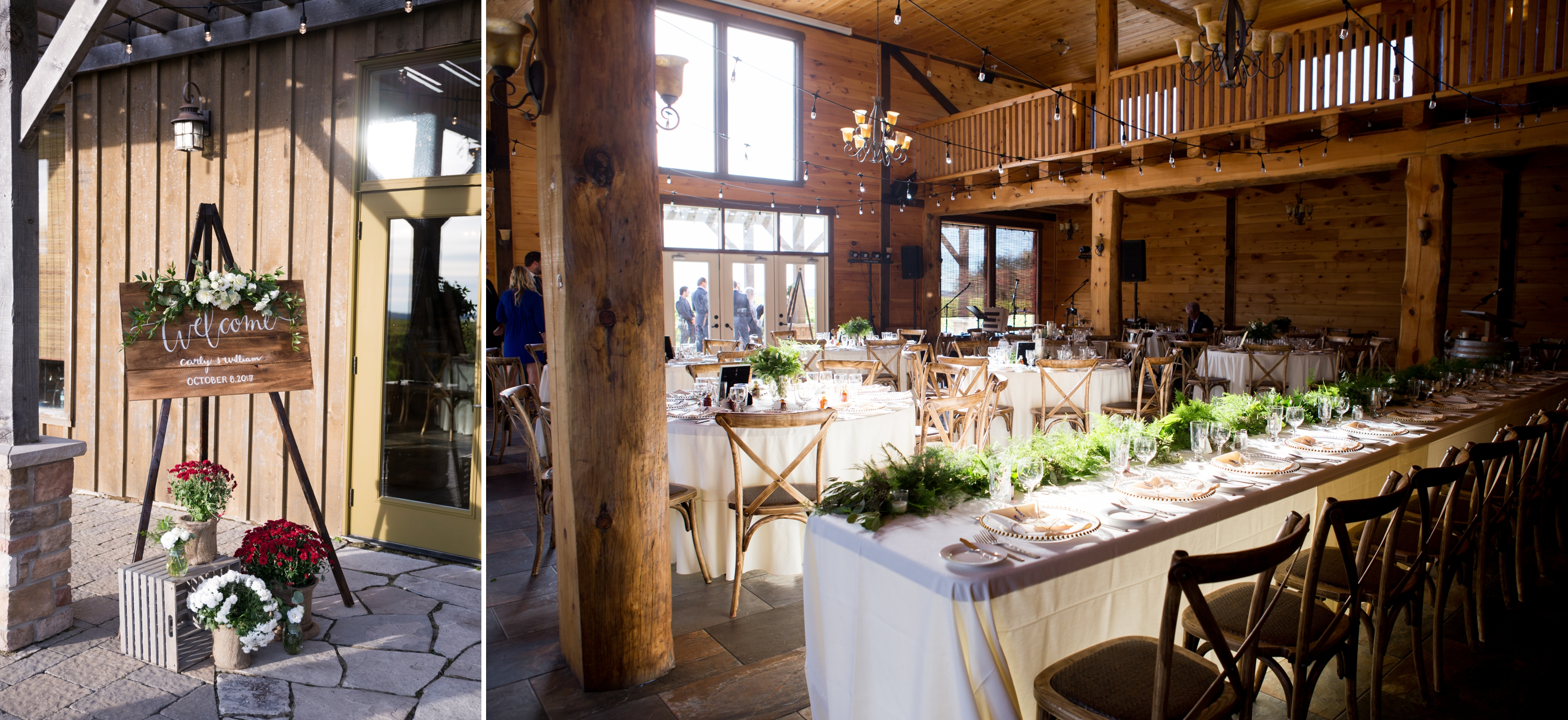 Decor Interior Barn Holland Marsh Winery Rustic Wedding Zsuzsi Pal Photography