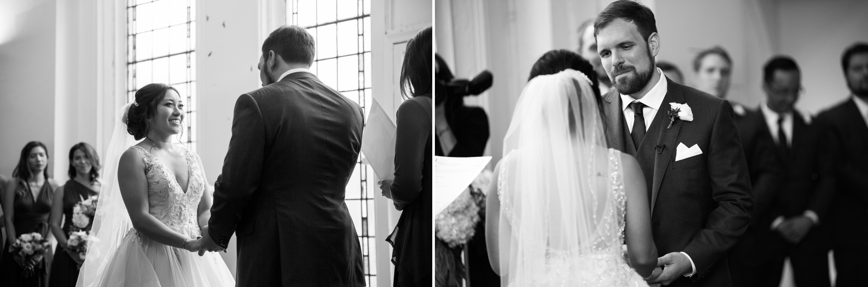 Black and White Toronto Berkeley Church Wedding Zsuzsi Pal Photography