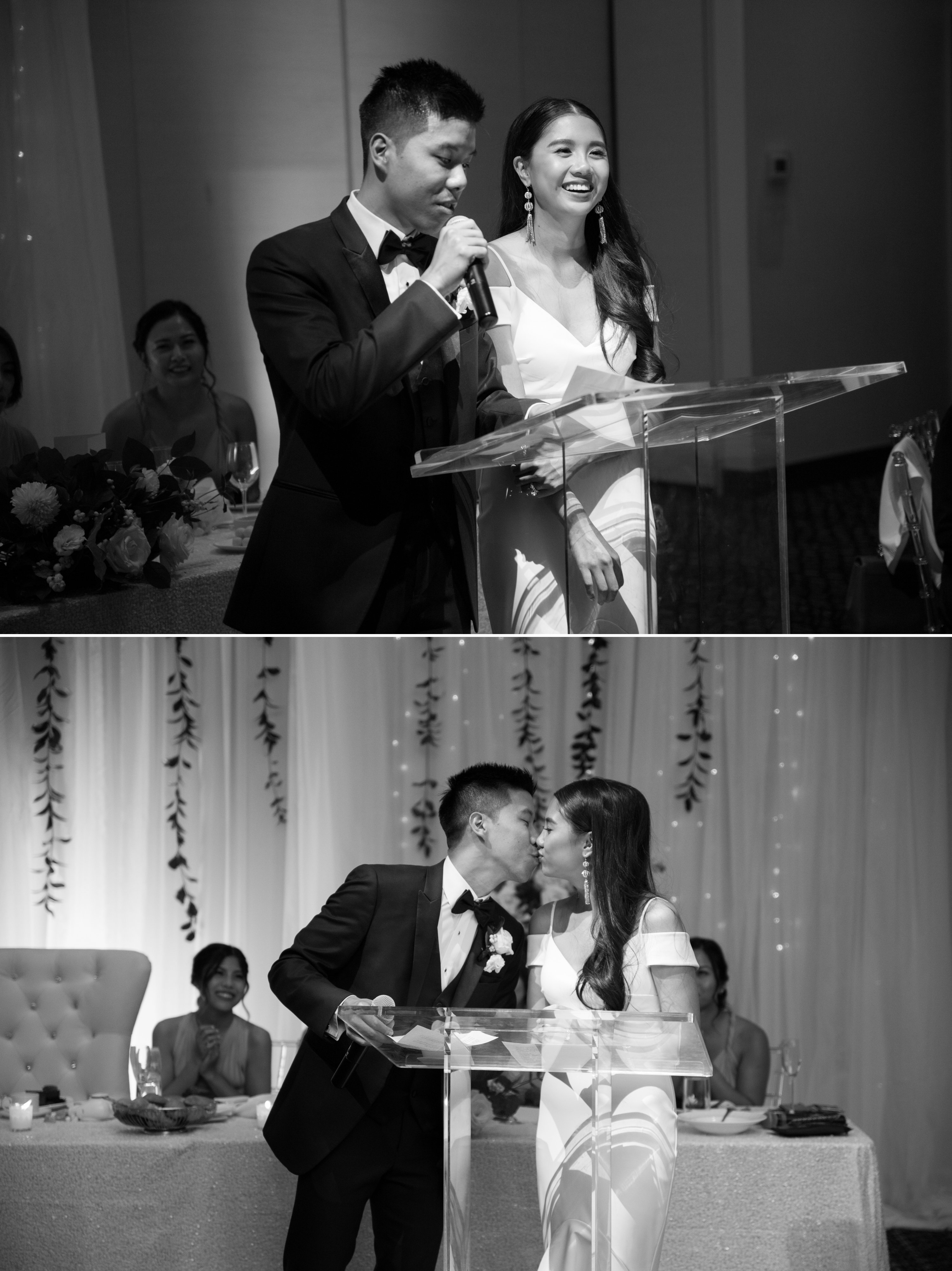 Speech Black and White Zsuzsi Pal Photography Chinese Wedding Guild Inn Toronto