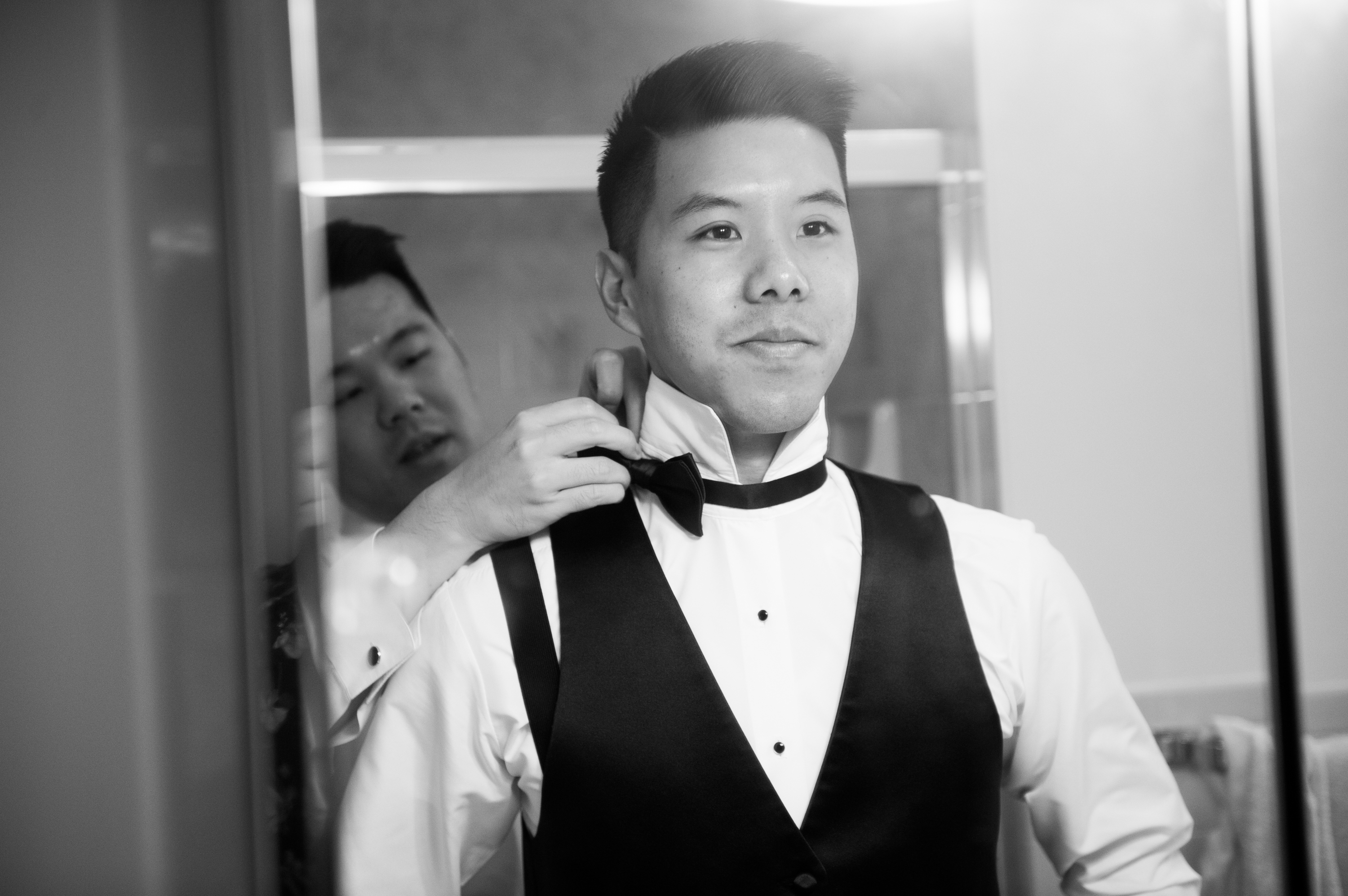 Groom Zsuzsi Pal Photography Chinese Wedding Guild Inn Toronto