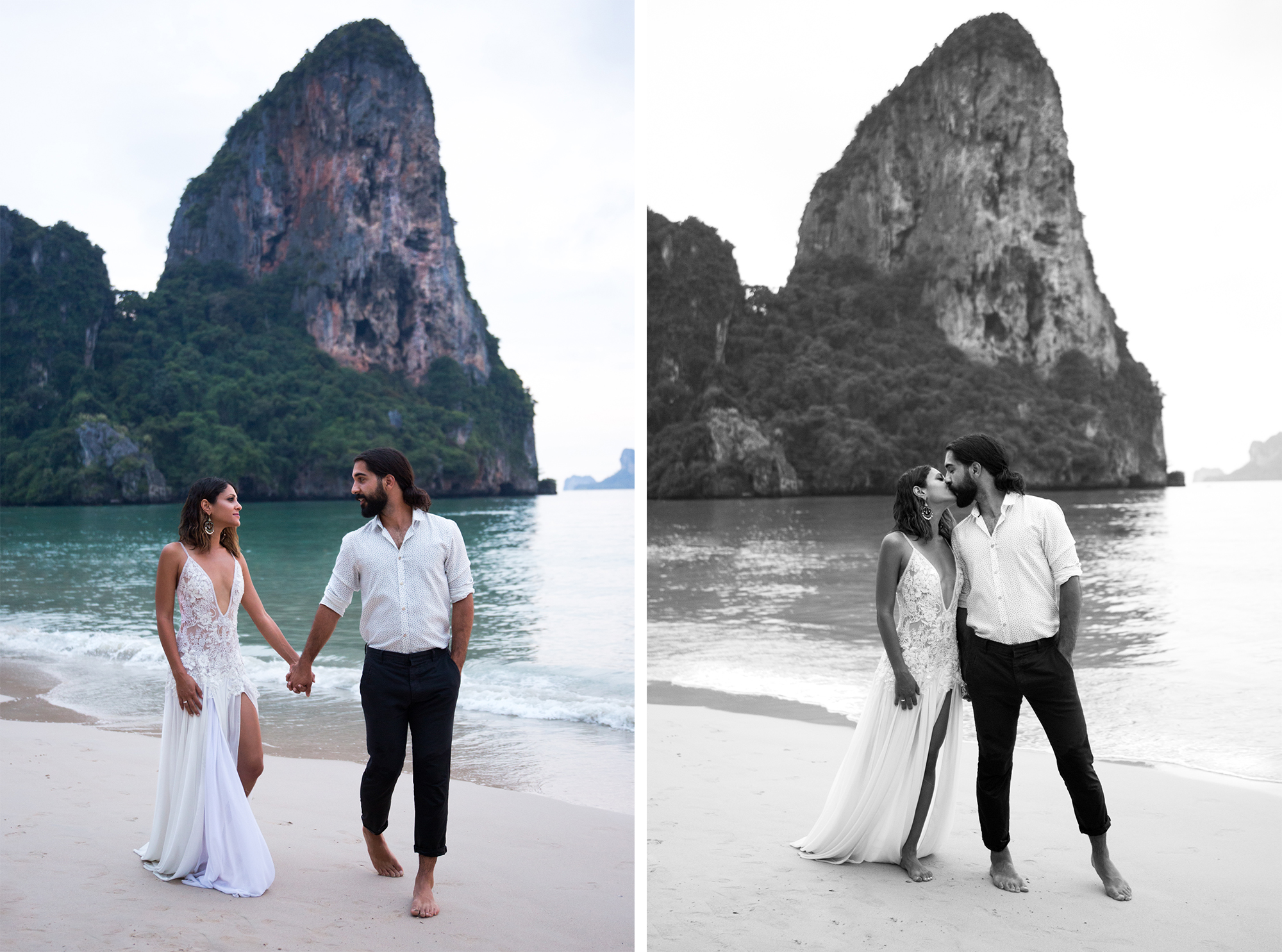 Couple Railay Beach Thailand Krabi Zsuzsi Pal Photography Wedding Sunset