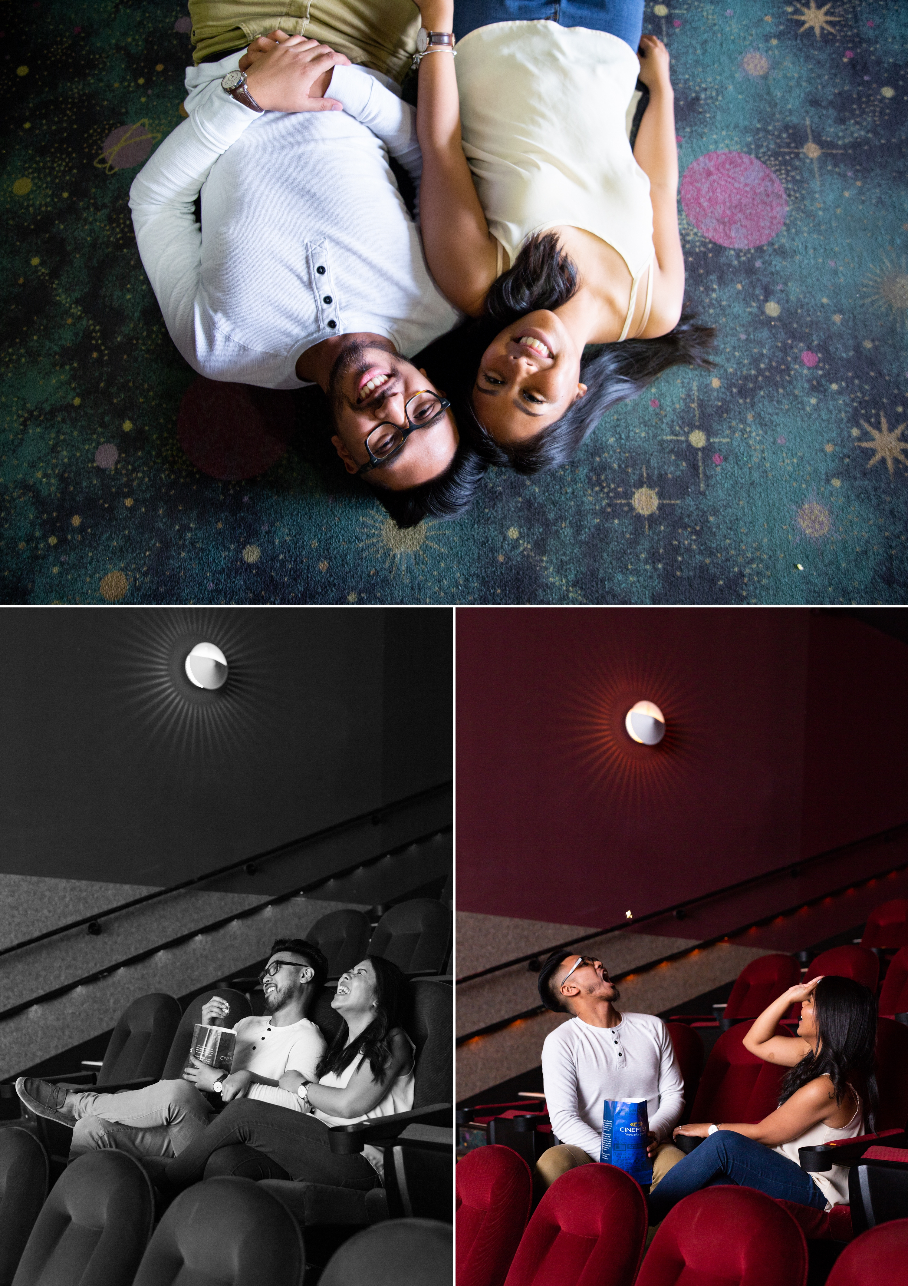 Movie Theatre Popcorn Oakville Greenhouse Engagement Zsuzsi Pal Photography Kristina Remar