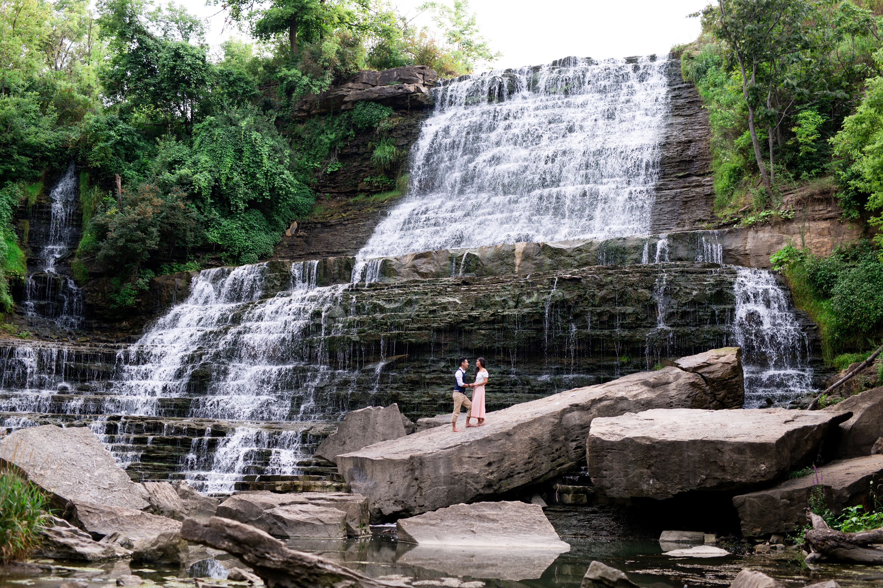 Couple Engagement Session Albion Falls Waterfall Hamilton Zsuzsi Pal Photography