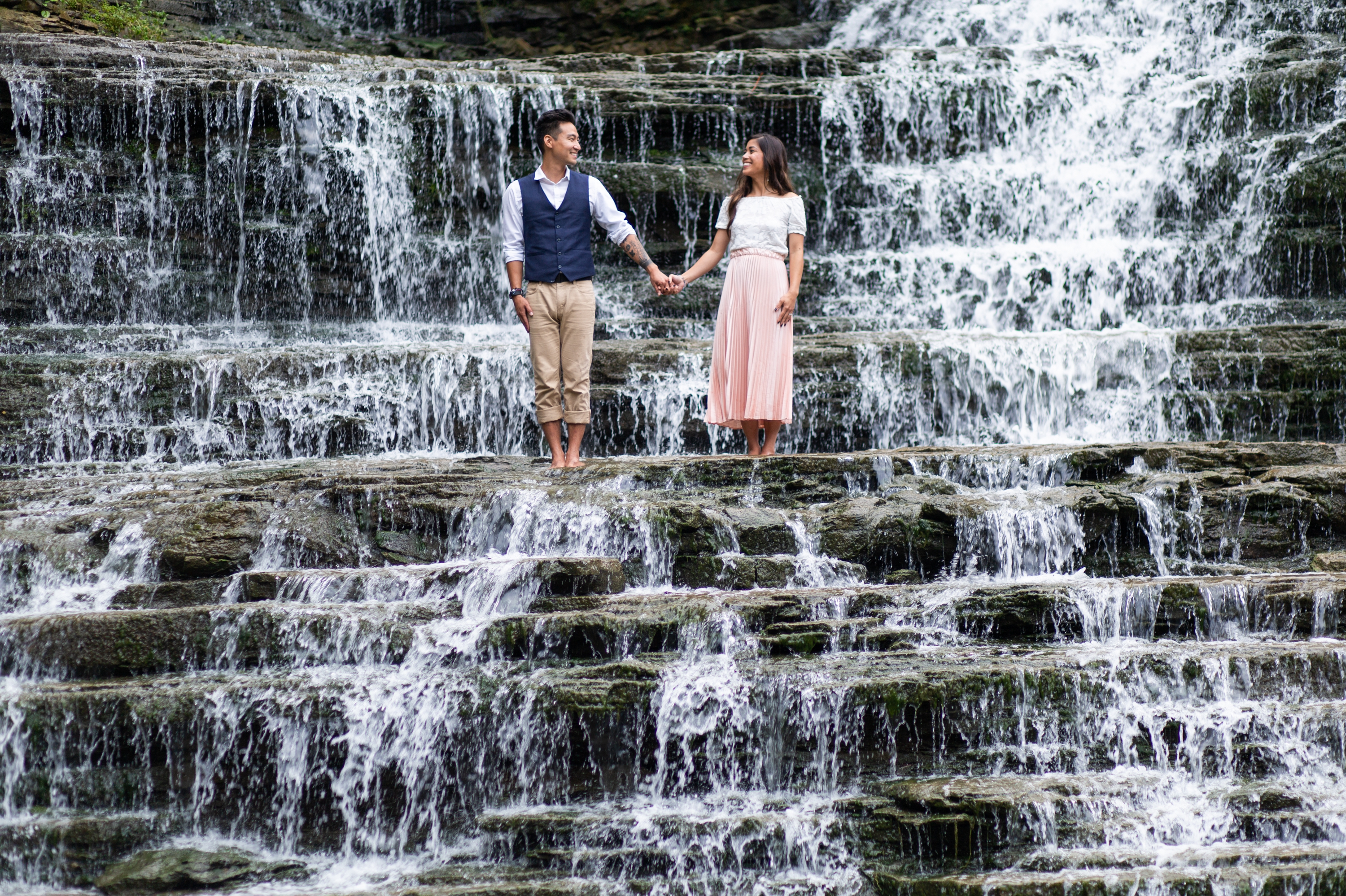 Engagement Session Albion Falls Waterfall Hamilton Zsuzsi Pal Photography
