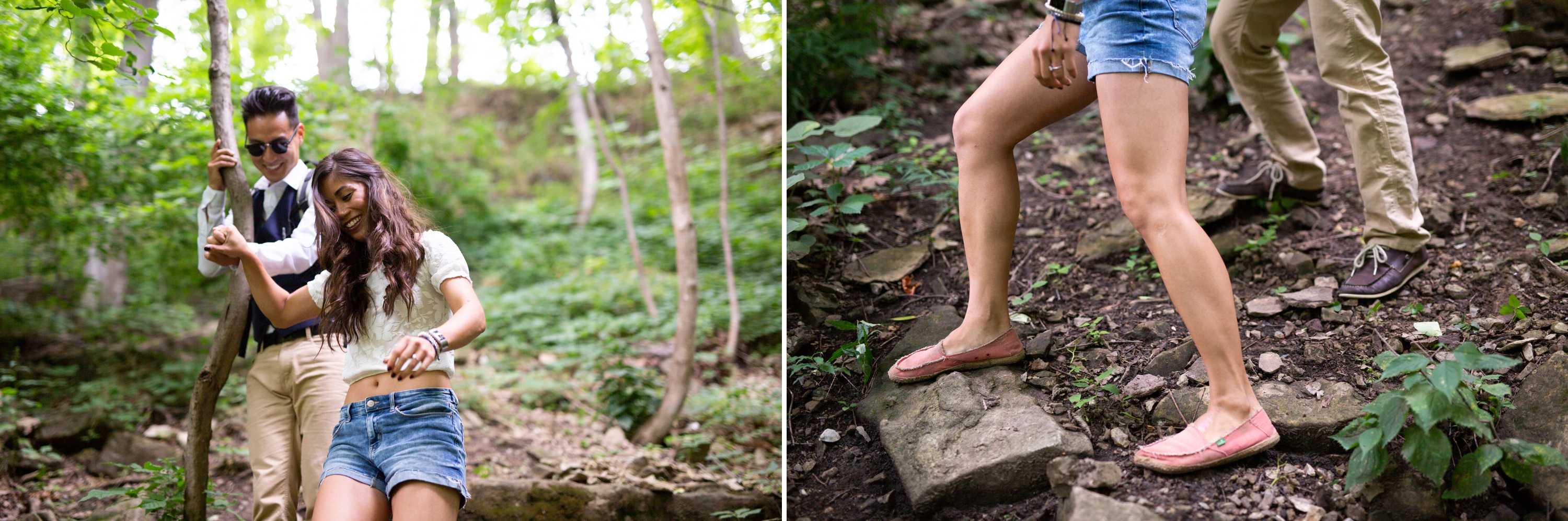 Hike Engagement Session Albion Falls Waterfall Hamilton Zsuzsi Pal Photography
