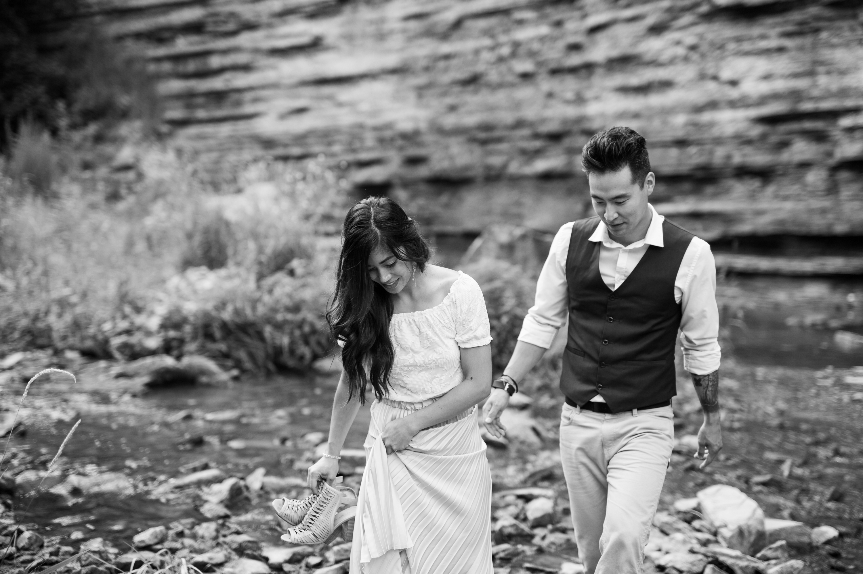 Walk Engagement Session Albion Falls Waterfall Hamilton Zsuzsi Pal Photography
