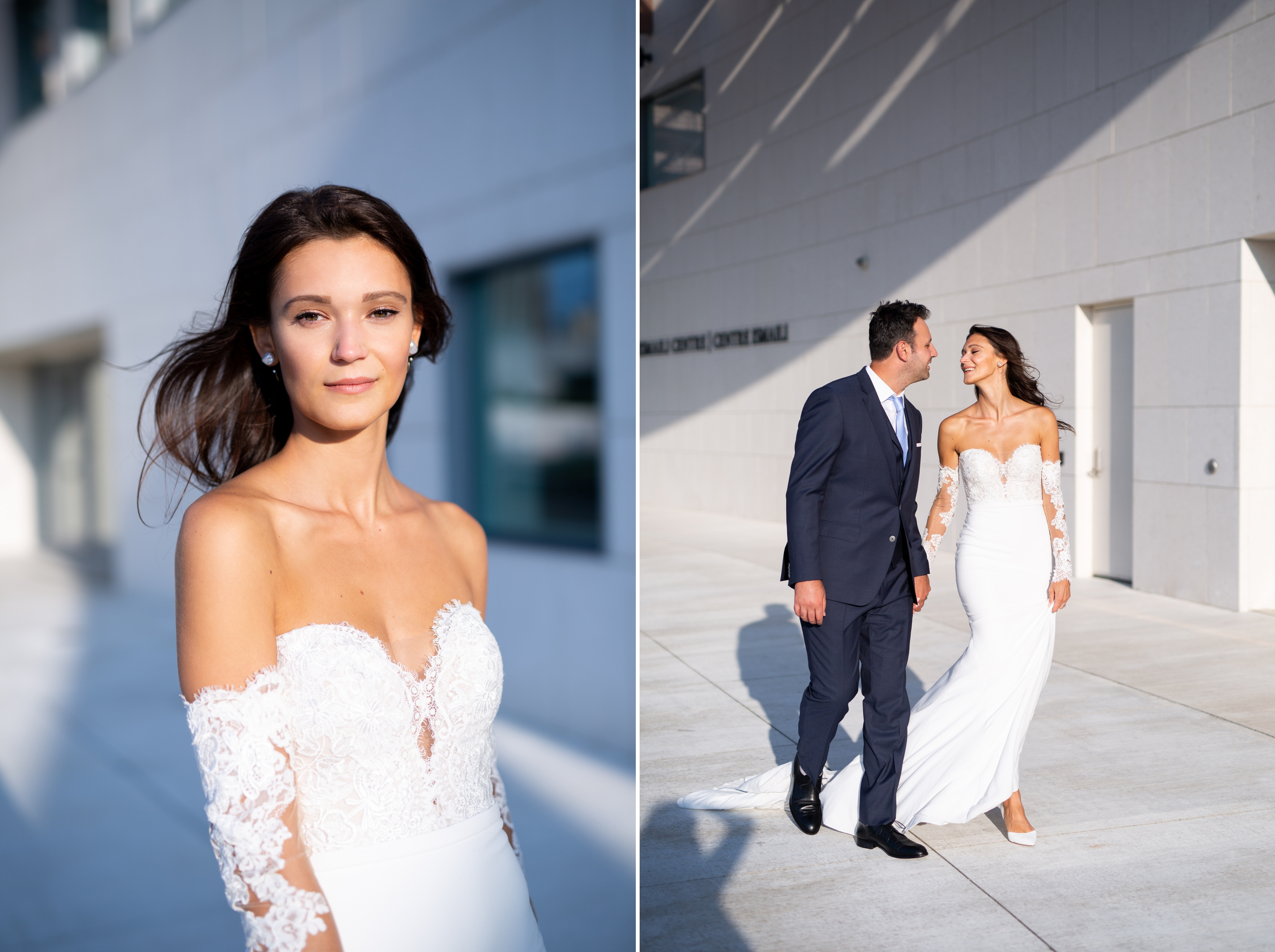 Bride Groom Aga Khan Museum Wedding Zsuzsi Pal Photography Toronto