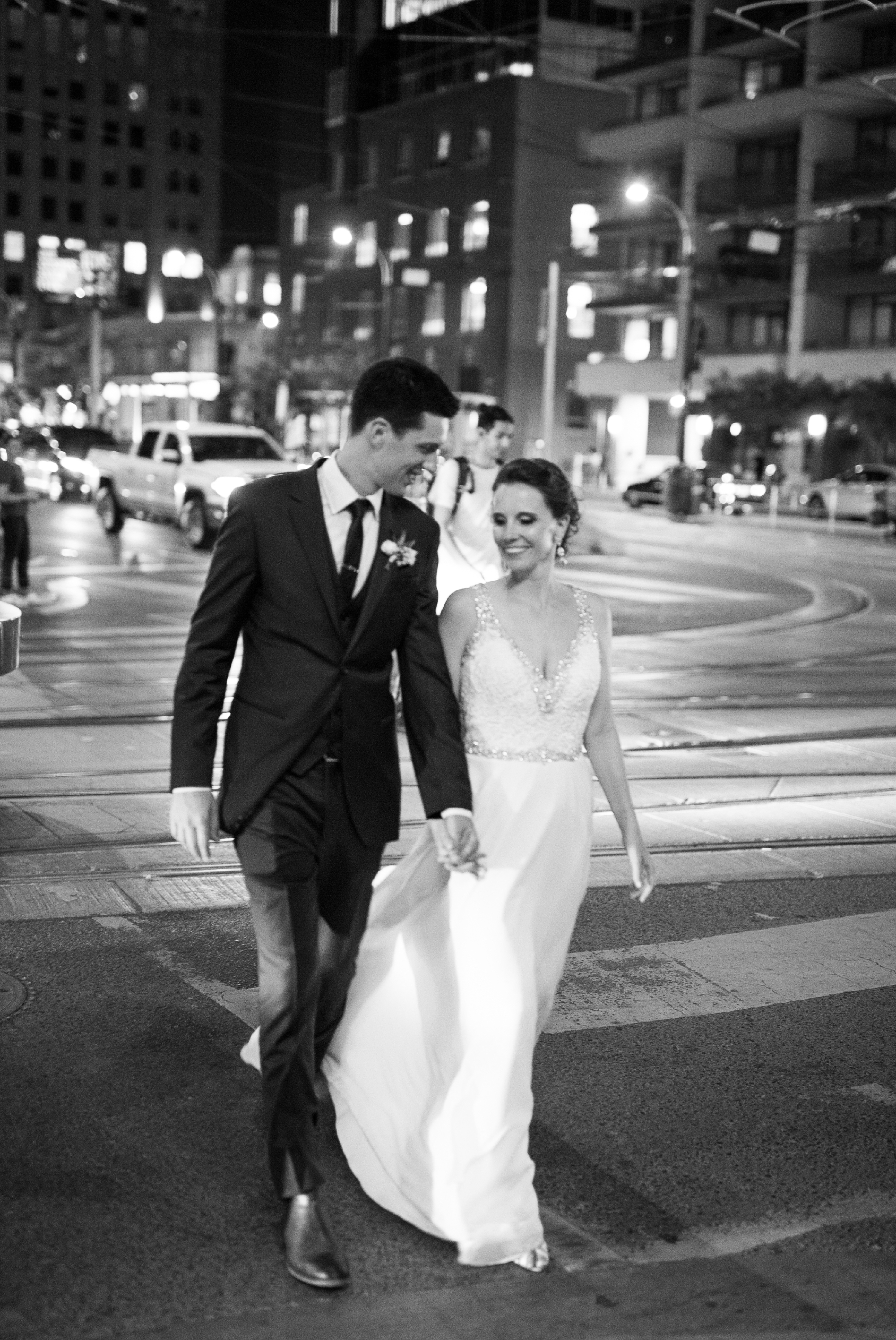 Night Photo Black and White Toronto Wedding 2nd Floor Events Zsuzsi Pal Photography