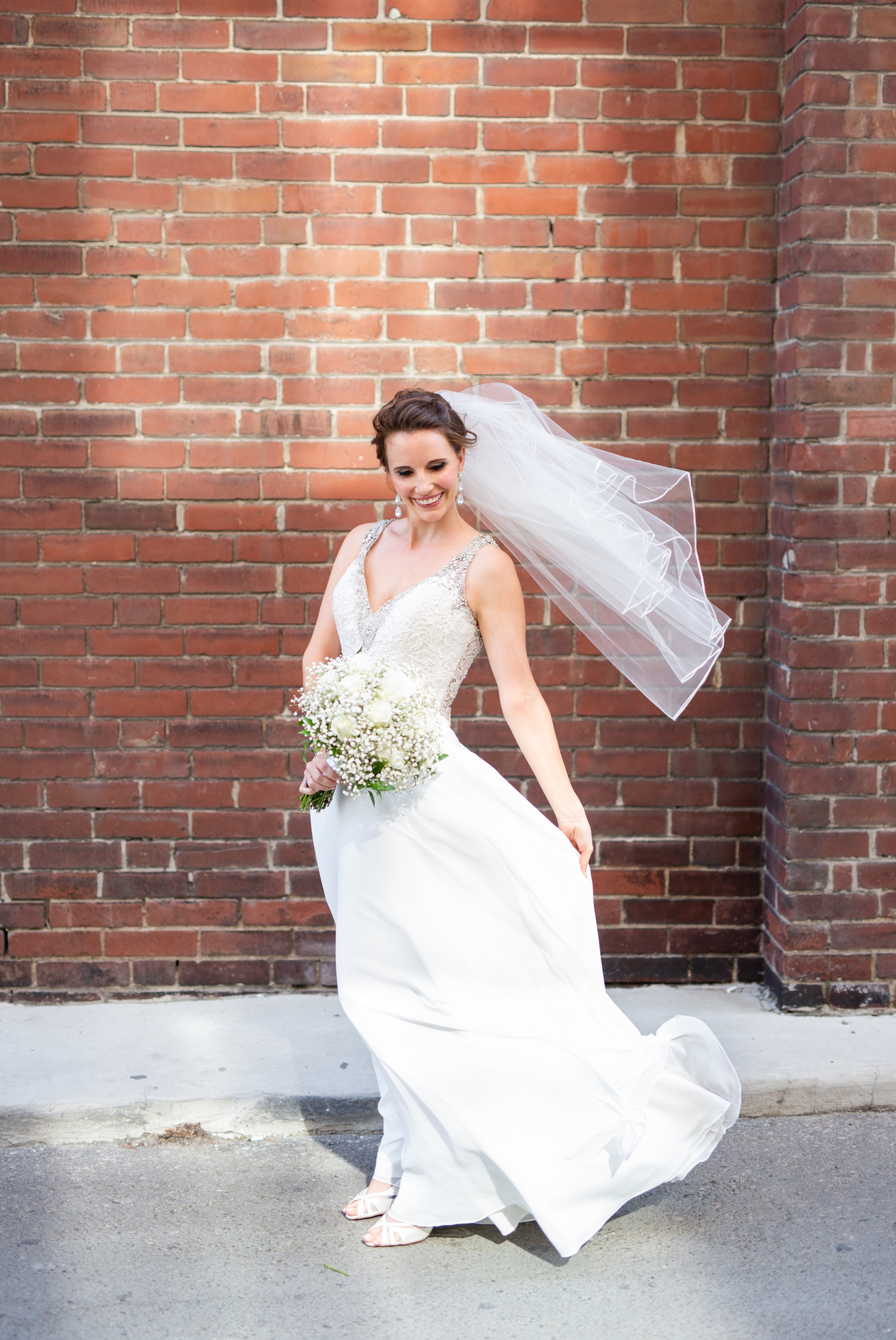 Downtown Brick Wall Toronto Wedding 2nd Floor Events Zsuzsi Pal Photography