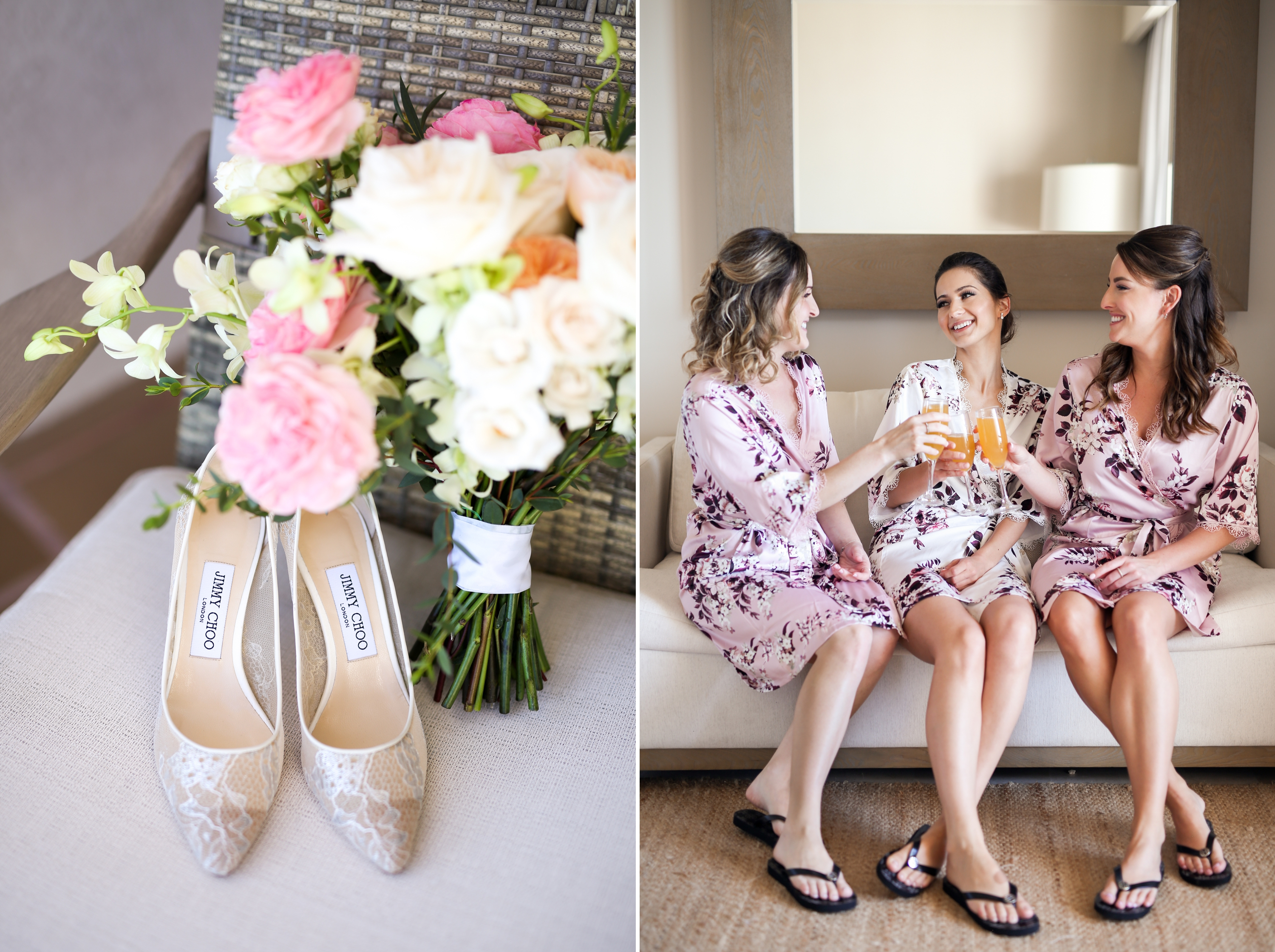 Jimmy Choo Bridesmaids Mexico Wedding Zsuzsi Pal Photography