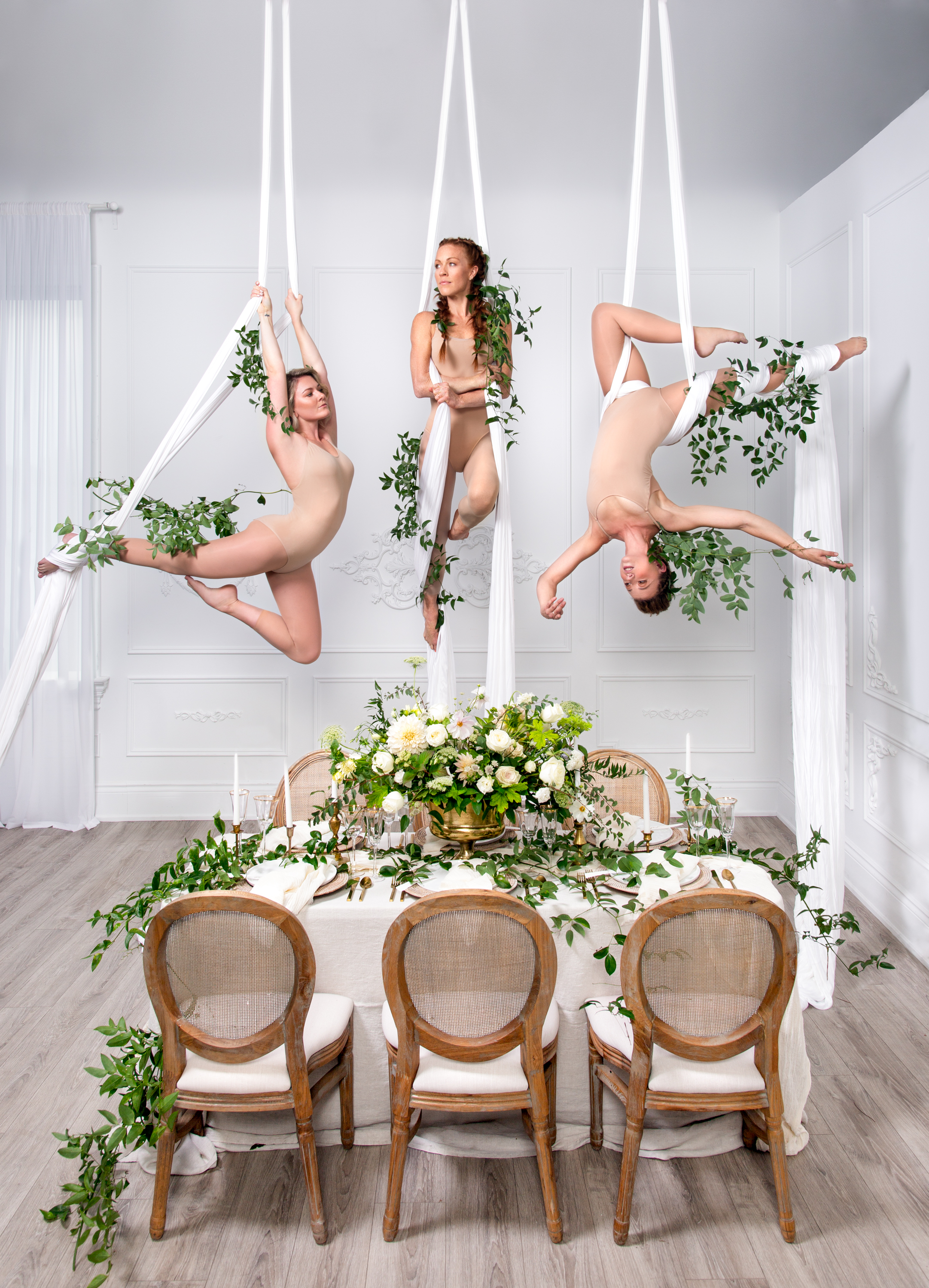 Table Shot Aerial Silks Dancers Behind The Scenes, Zsuzsi Pal Photography, Toronto Burlington Wedding Photographer
