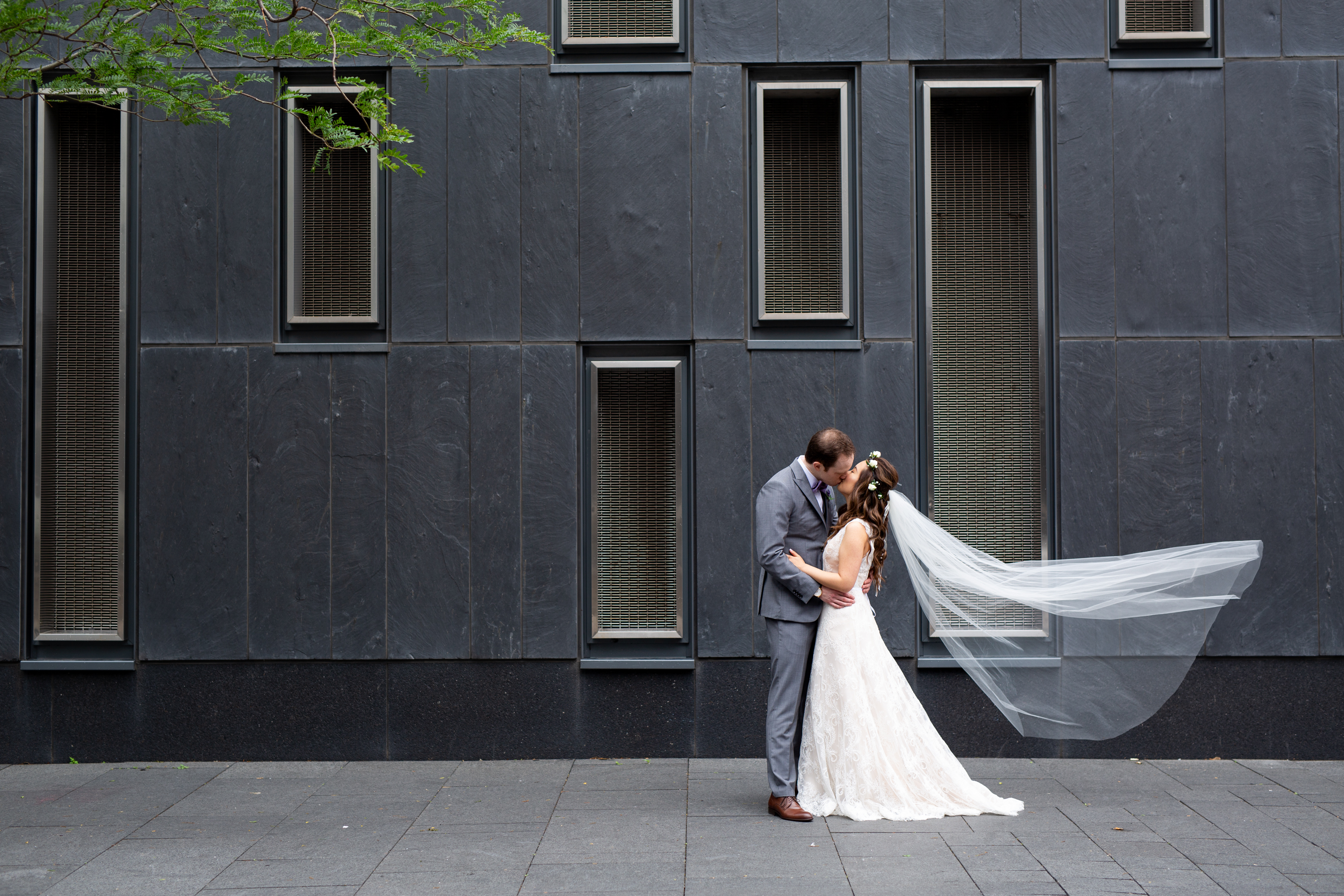 Couple Kiss Behind The Scenes, Zsuzsi Pal Photography, Toronto Burlington Wedding Photographer