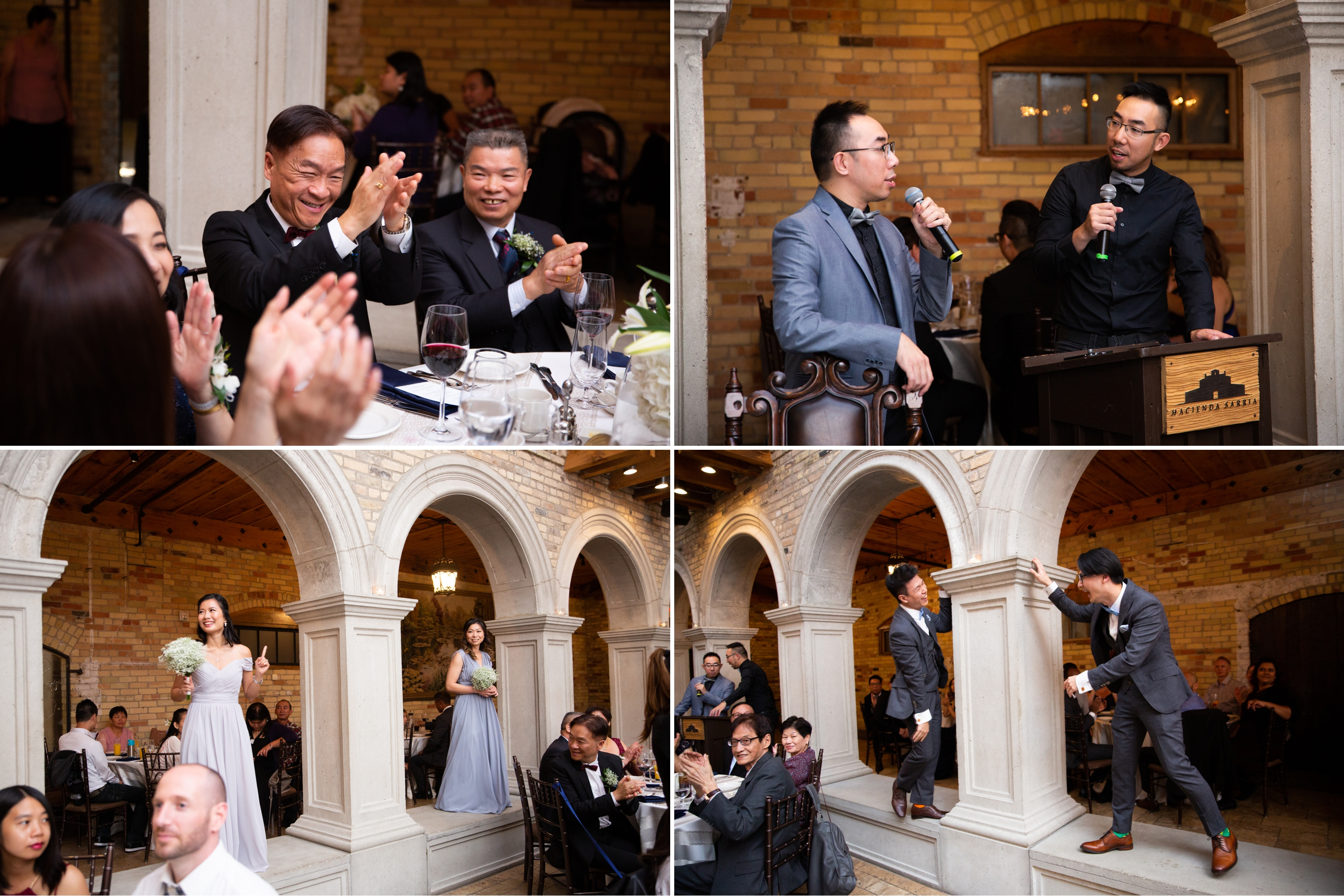 Reception Candid Entrances Chinese Wedding Hacienda Sarria Zsuzsi Pal Photography Toronto