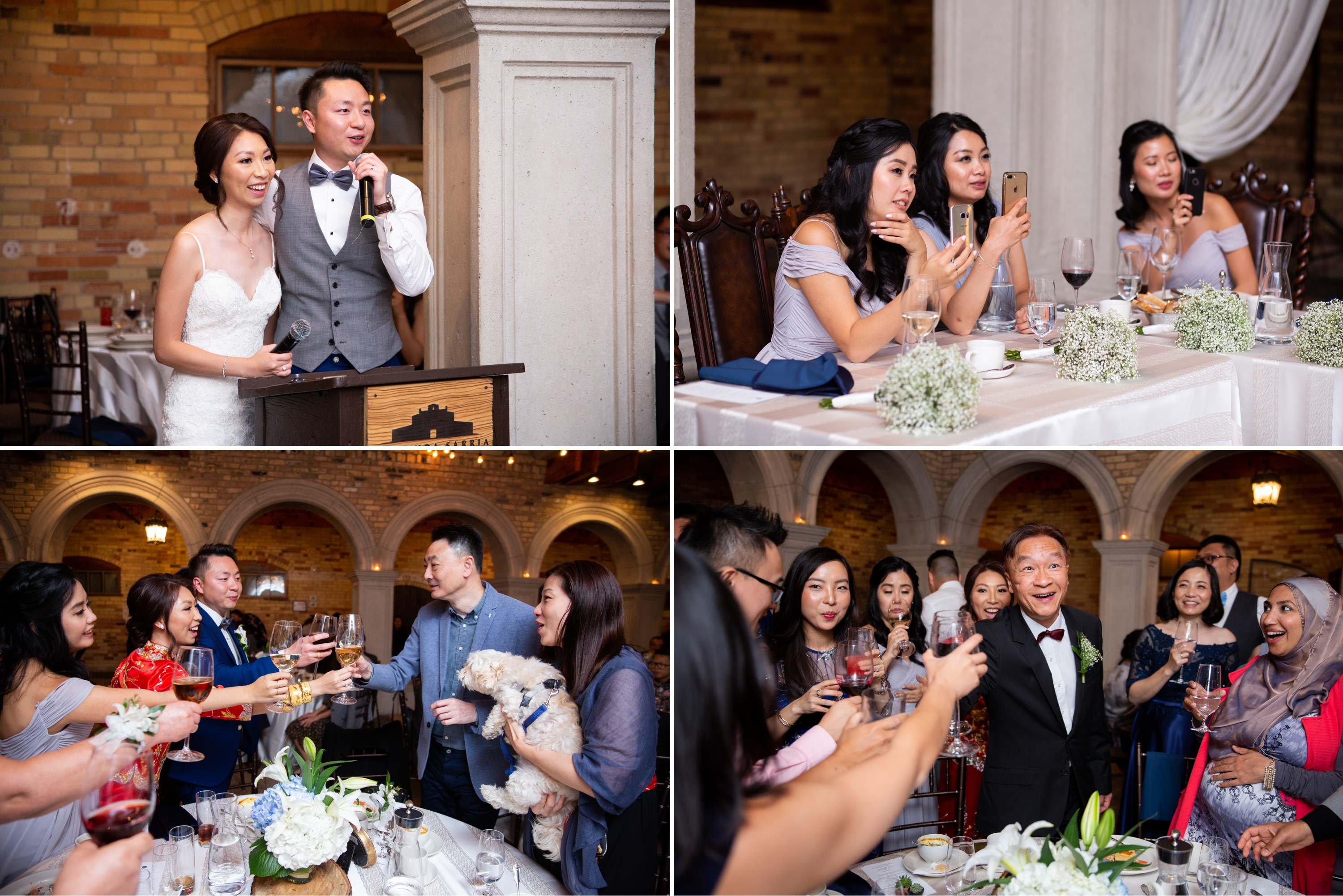 Table Toast Candid Chinese Wedding Hacienda Sarria Zsuzsi Pal Photography Toronto