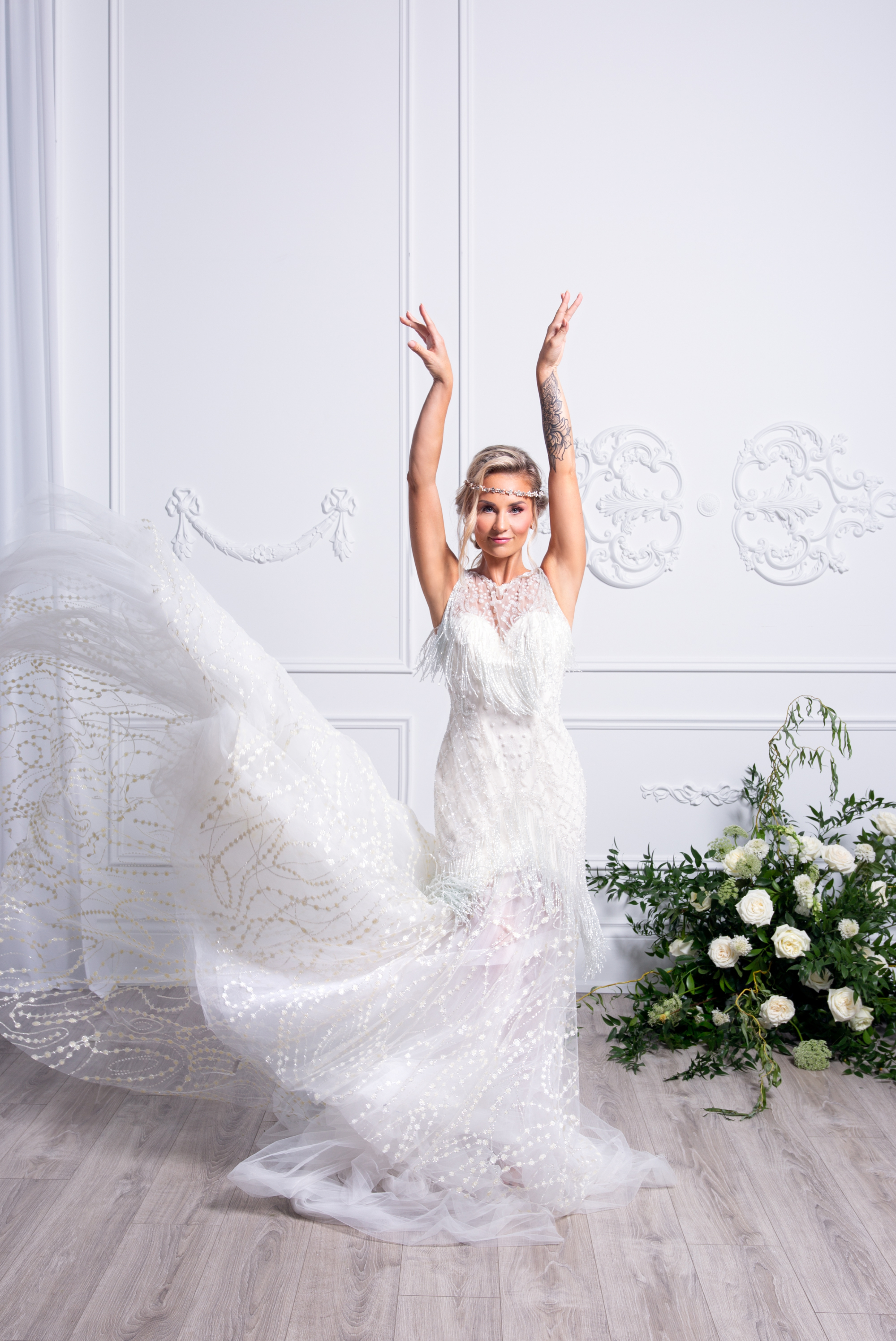 Bride Dance Movement In Love Styled Wedding Zsuzsi Pal Photography