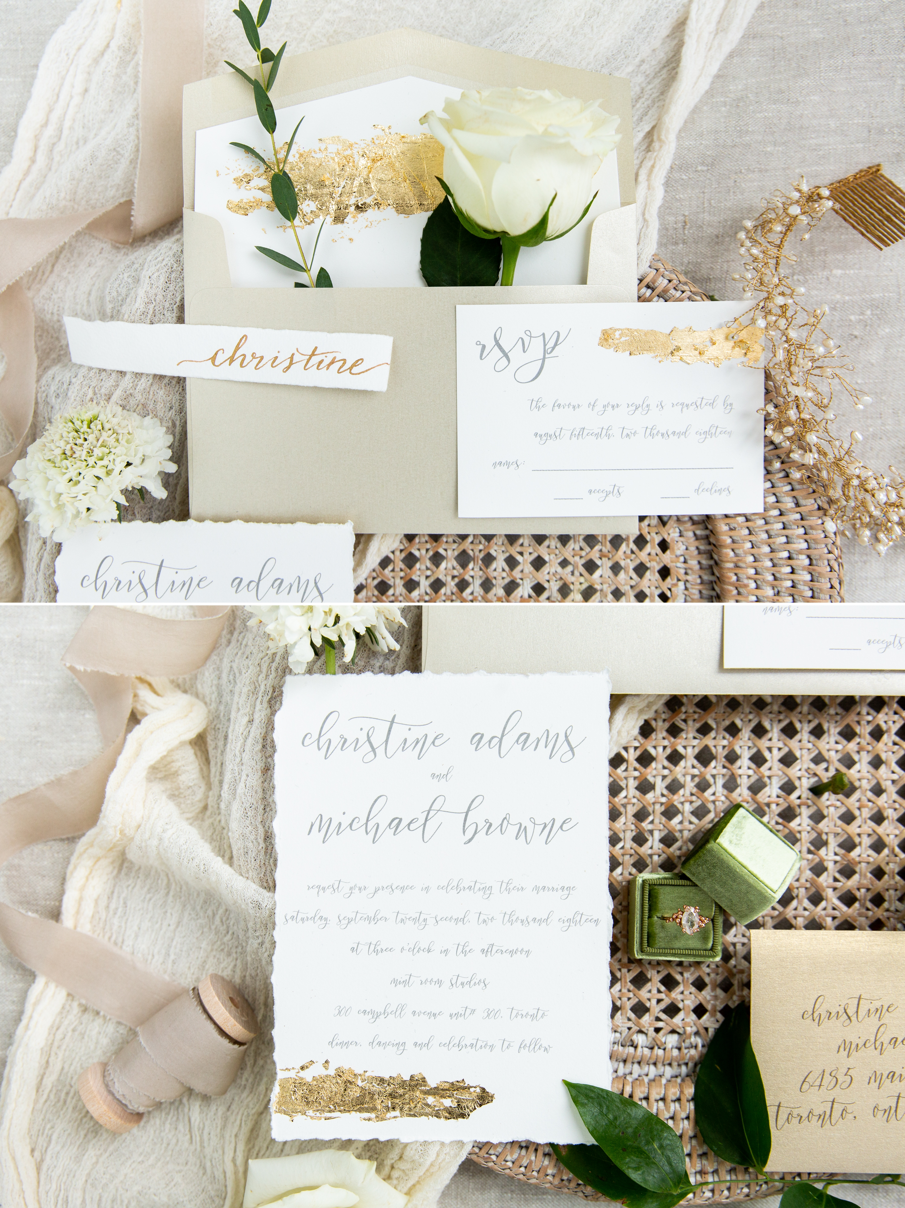 Meg Lizabet Ring Invitations Movement In Love Styled Wedding Zsuzsi Pal Photography