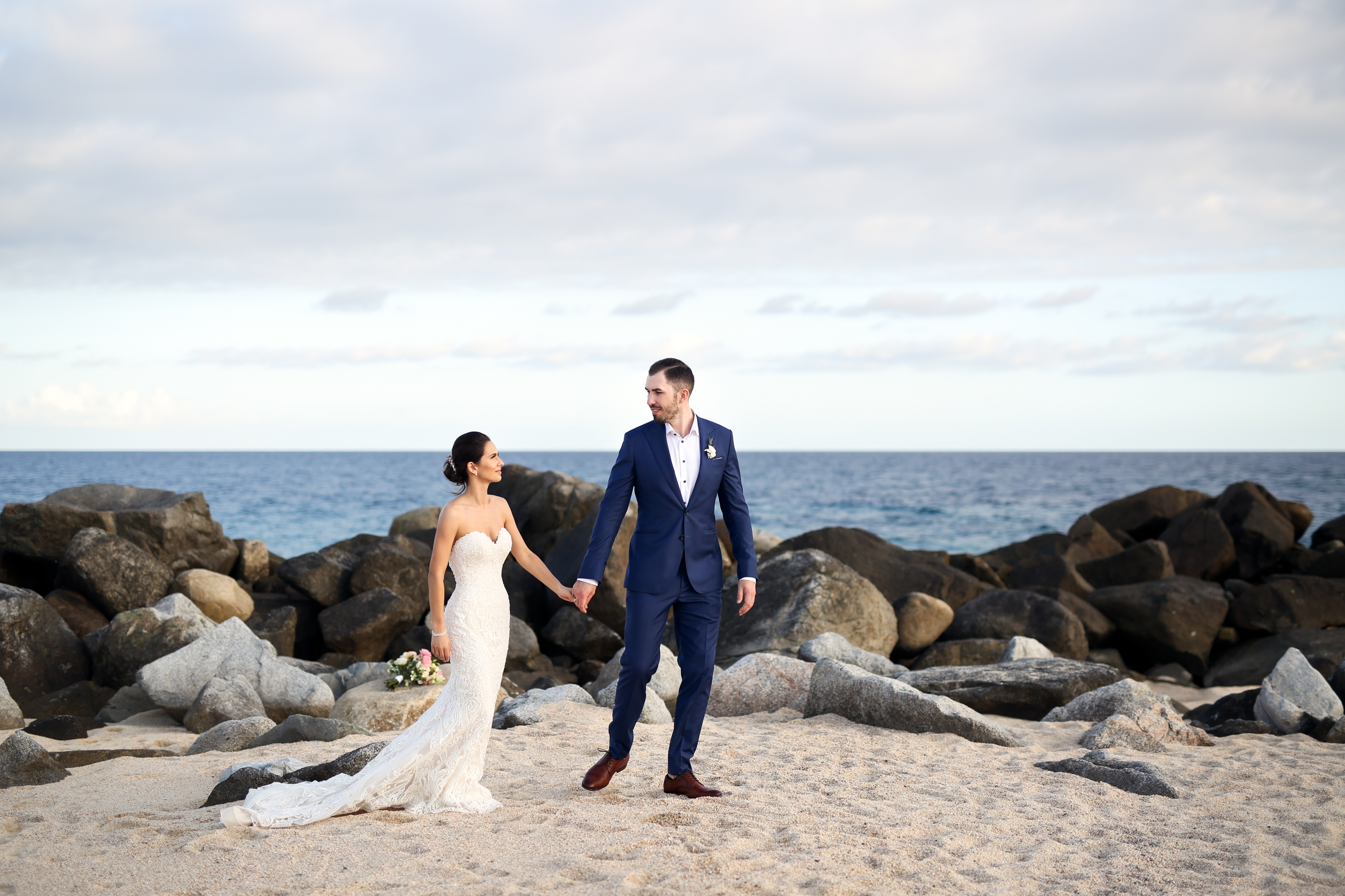 Beach Walk Paradisus Mexico Los Cabos Sea of Cortez Zsuzsi Pal Photography Destination Wedding