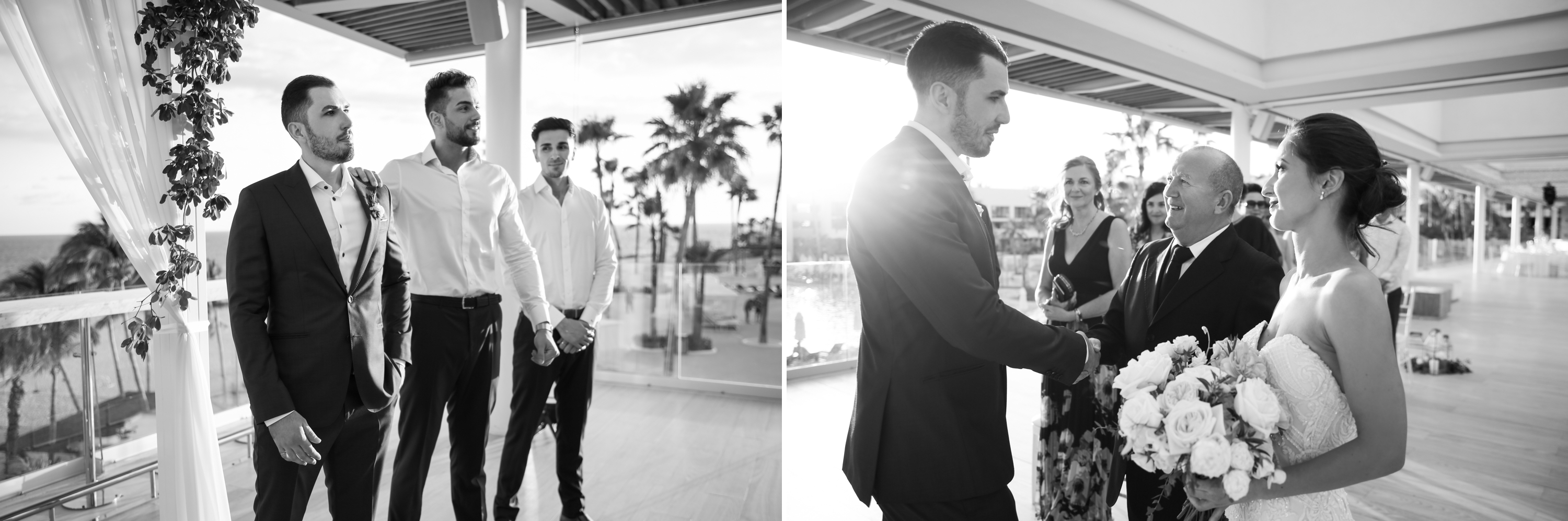 Ceremony Black and White Paradisus Mexico Los Cabos Sea of Cortez Zsuzsi Pal Photography Destination Wedding