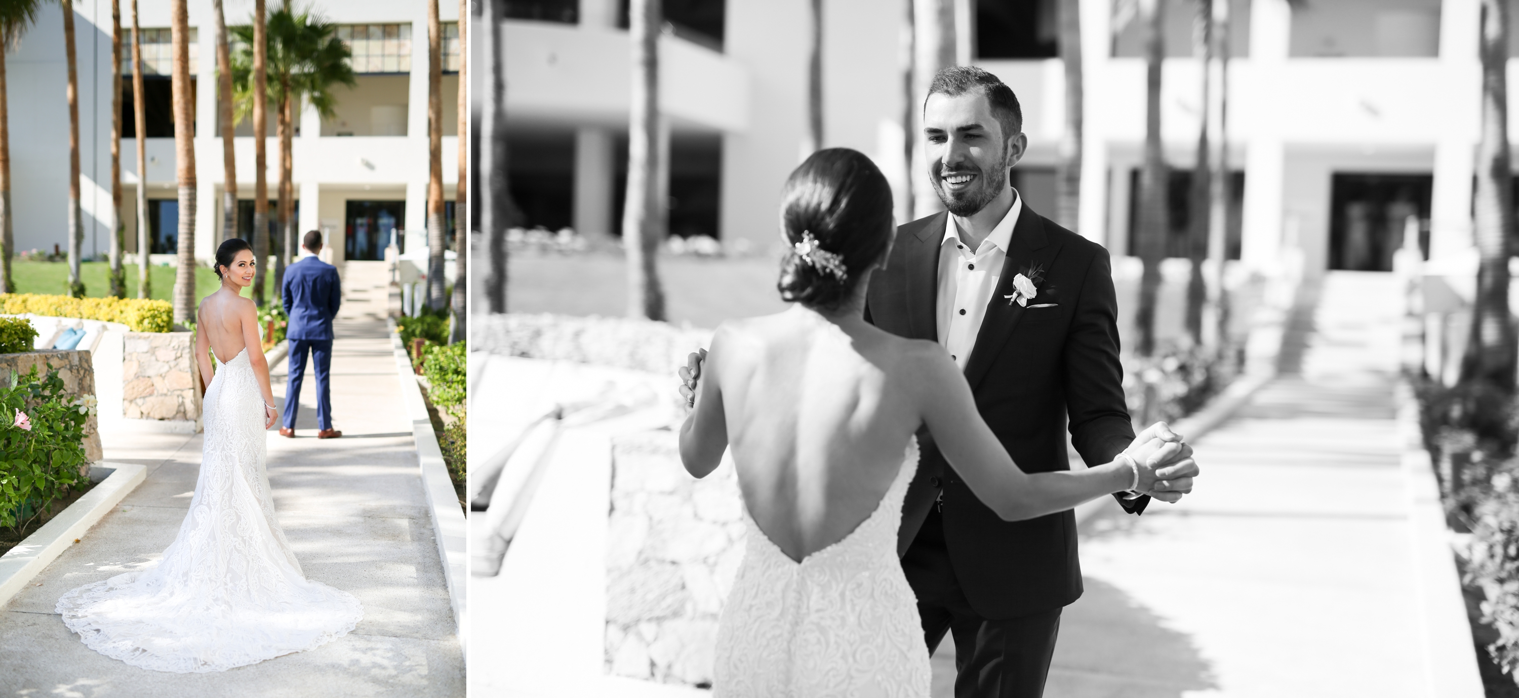 First Look Reveal Paradisus Mexico Los Cabos Sea of Cortez Zsuzsi Pal Photography Destination Wedding