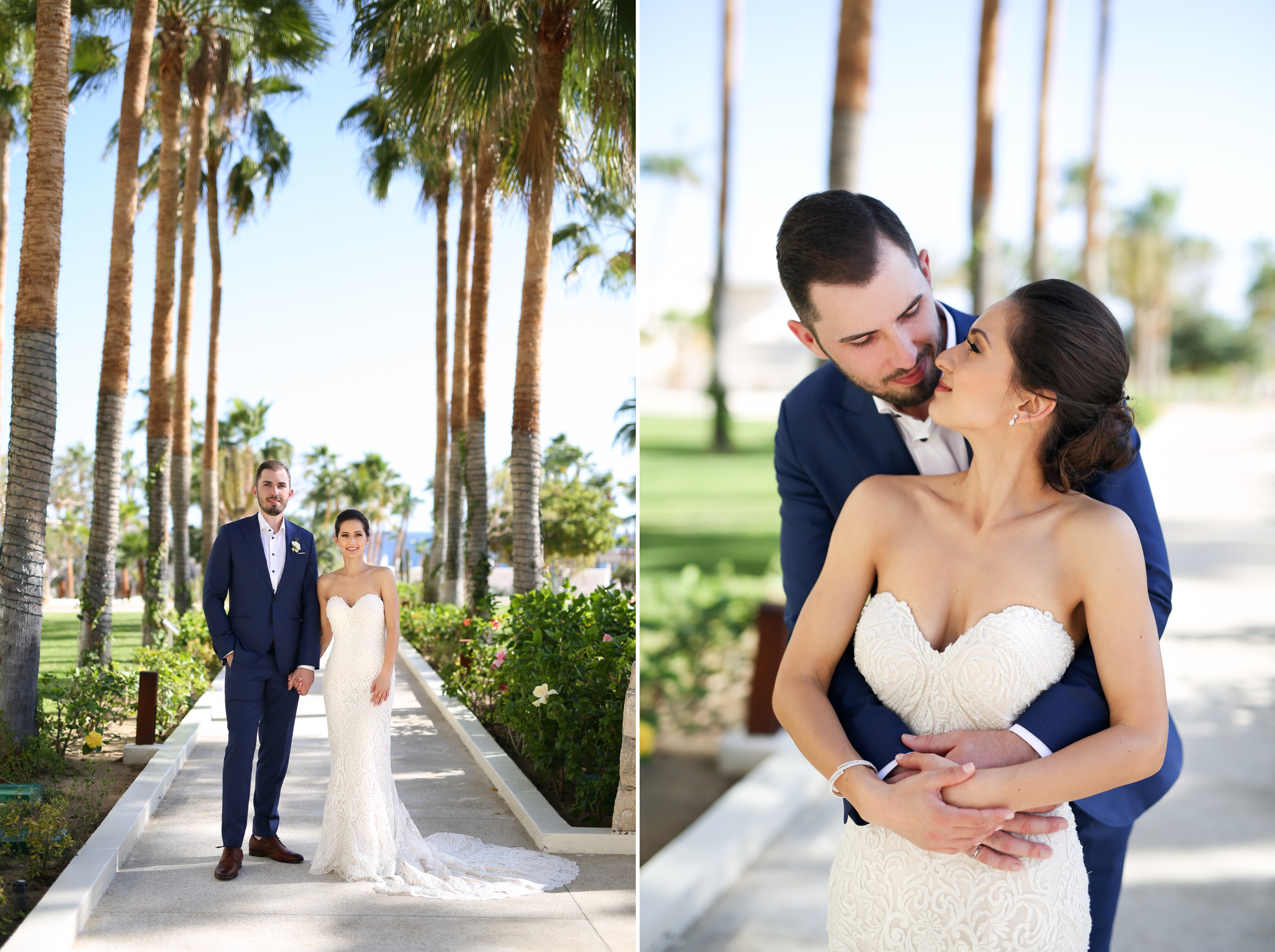 Palm Trees Couple Paradisus Mexico Los Cabos Sea of Cortez Zsuzsi Pal Photography Destination Wedding
