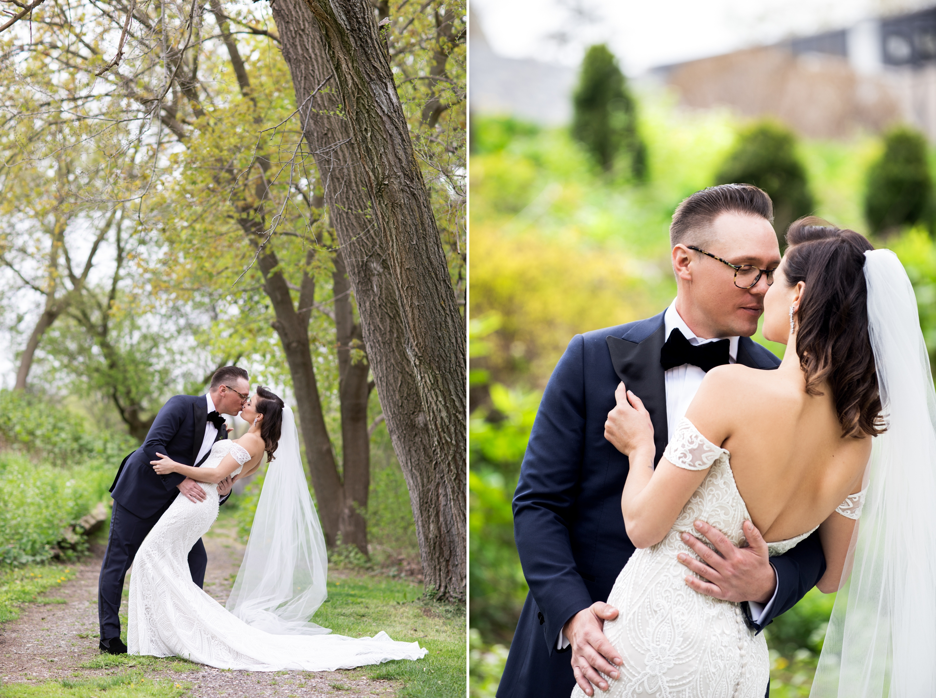 Kiss Dip Matthew Davignon Josh Zsuzsi Pal Photography Wedding Elmhurst Inn Studio Lumen