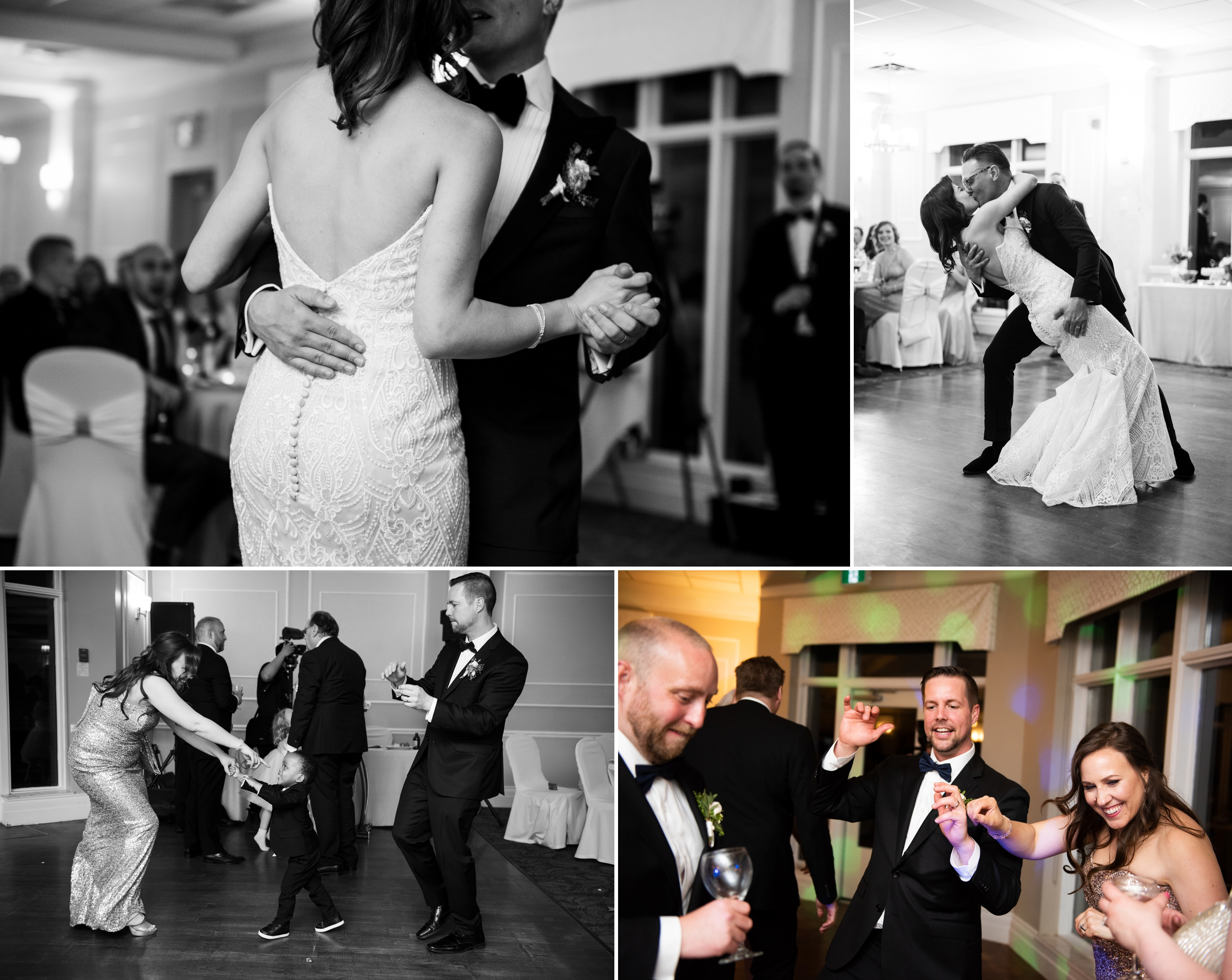 Dance Party Dip Josh Zsuzsi Pal Photography Wedding Elmhurst Inn Studio Lumen