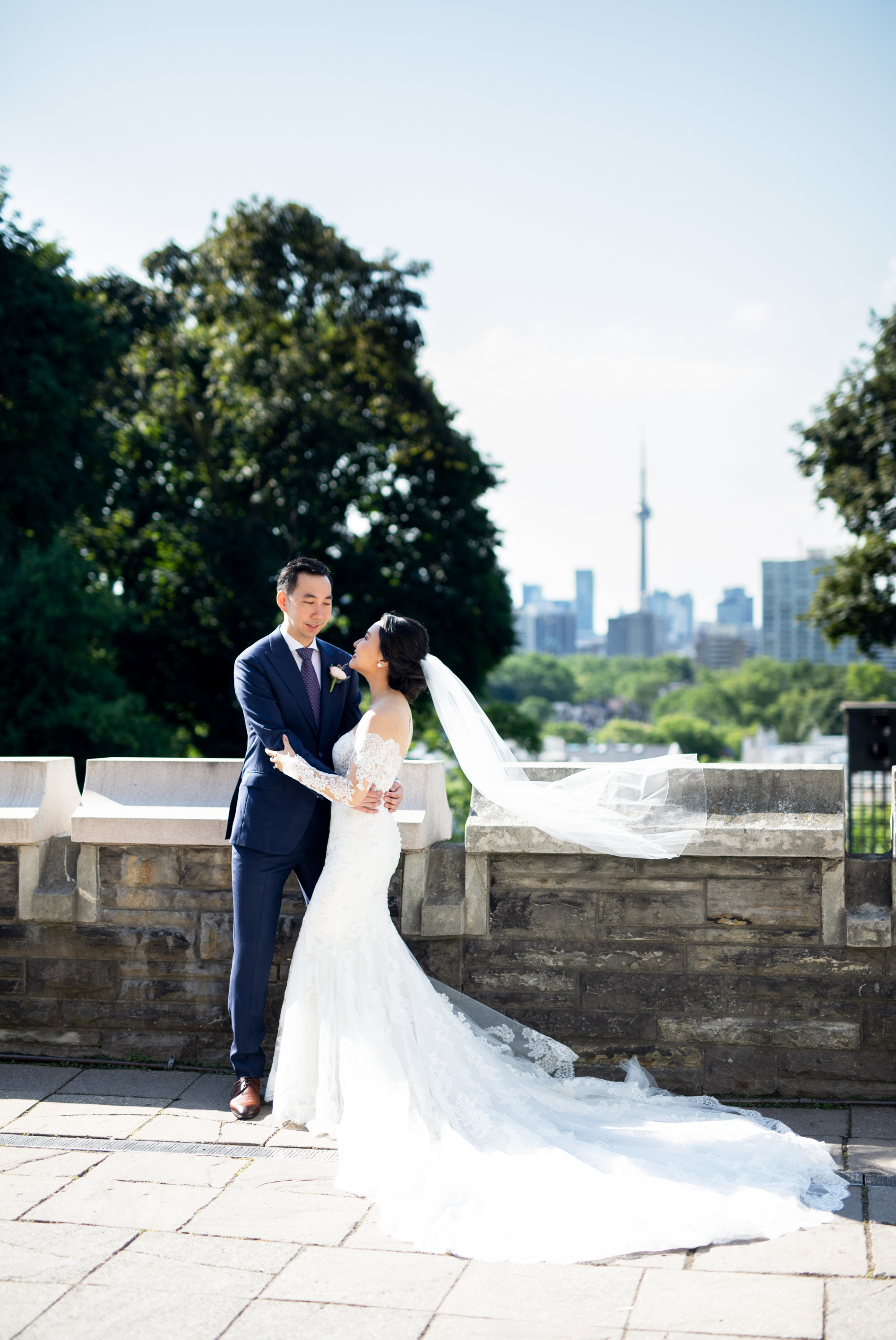 CN Tower Toronto Casa Loma Four Seasons Chinese Wedding Zsuzsi Pal Photography Cindy Brian