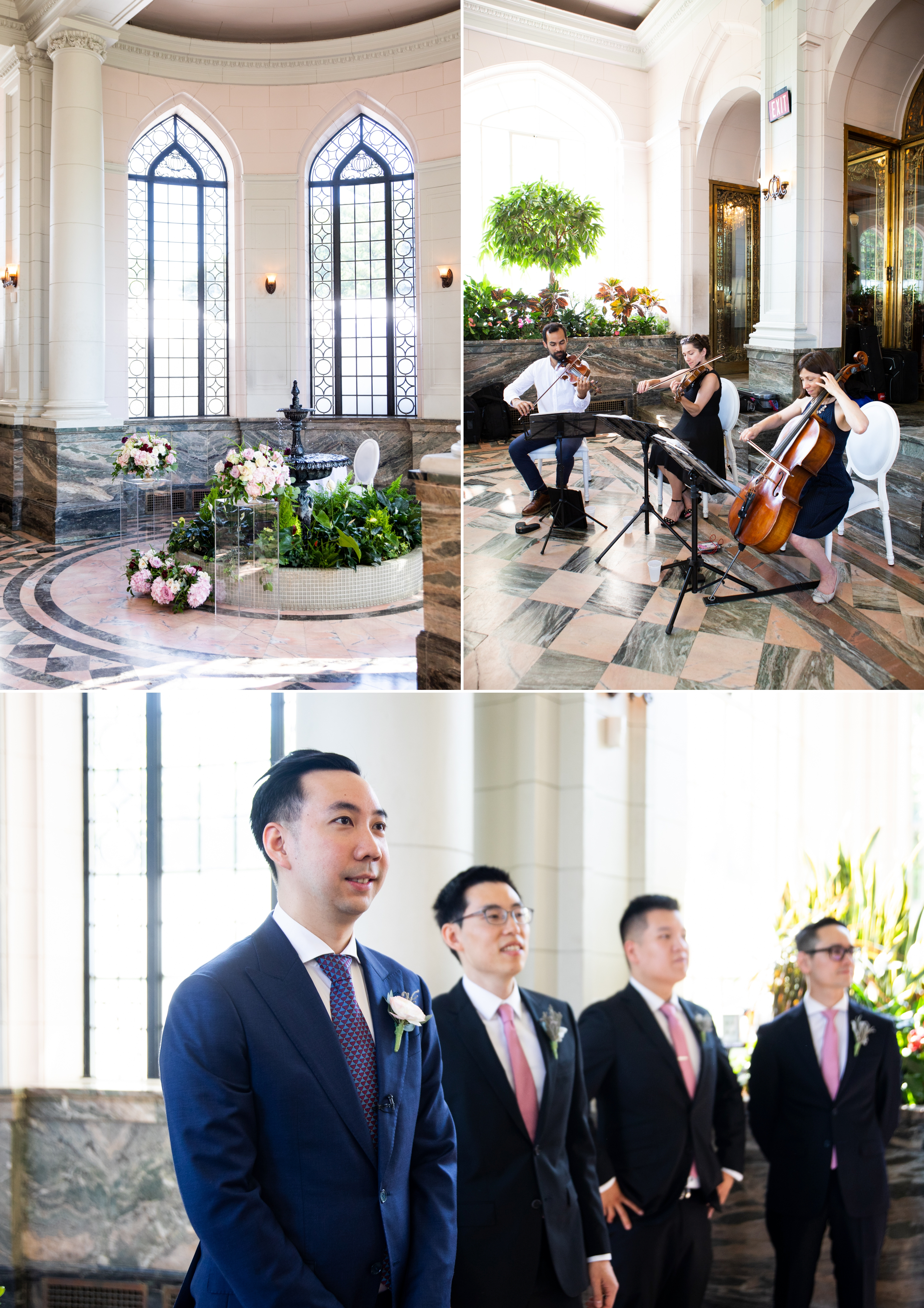 Ceremony Quartet Toronto Casa Loma Four Seasons Chinese Wedding Zsuzsi Pal Photography Cindy Brian