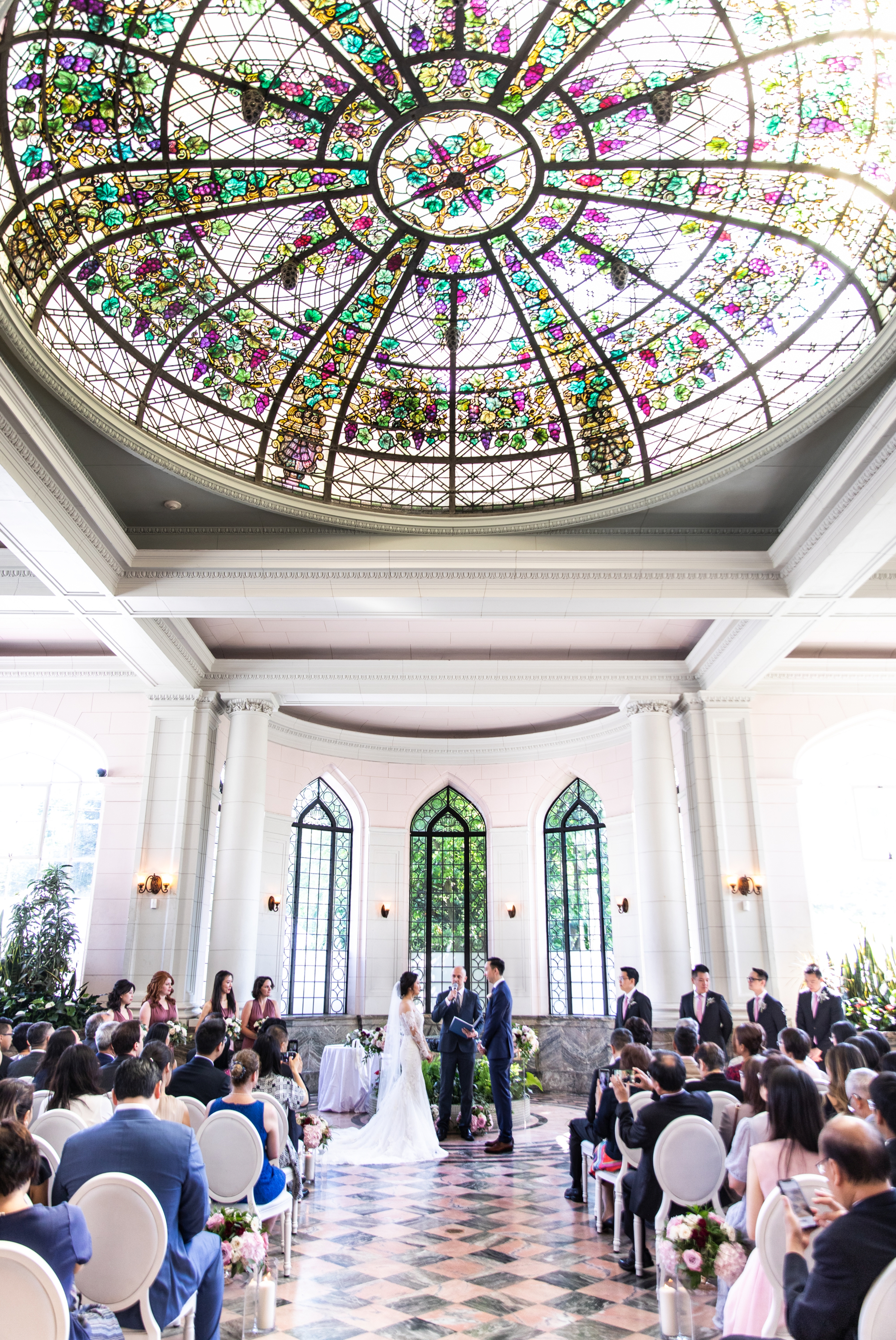 Ceremony Observatory Toronto Casa Loma Four Seasons Chinese Wedding Zsuzsi Pal Photography Cindy Brian