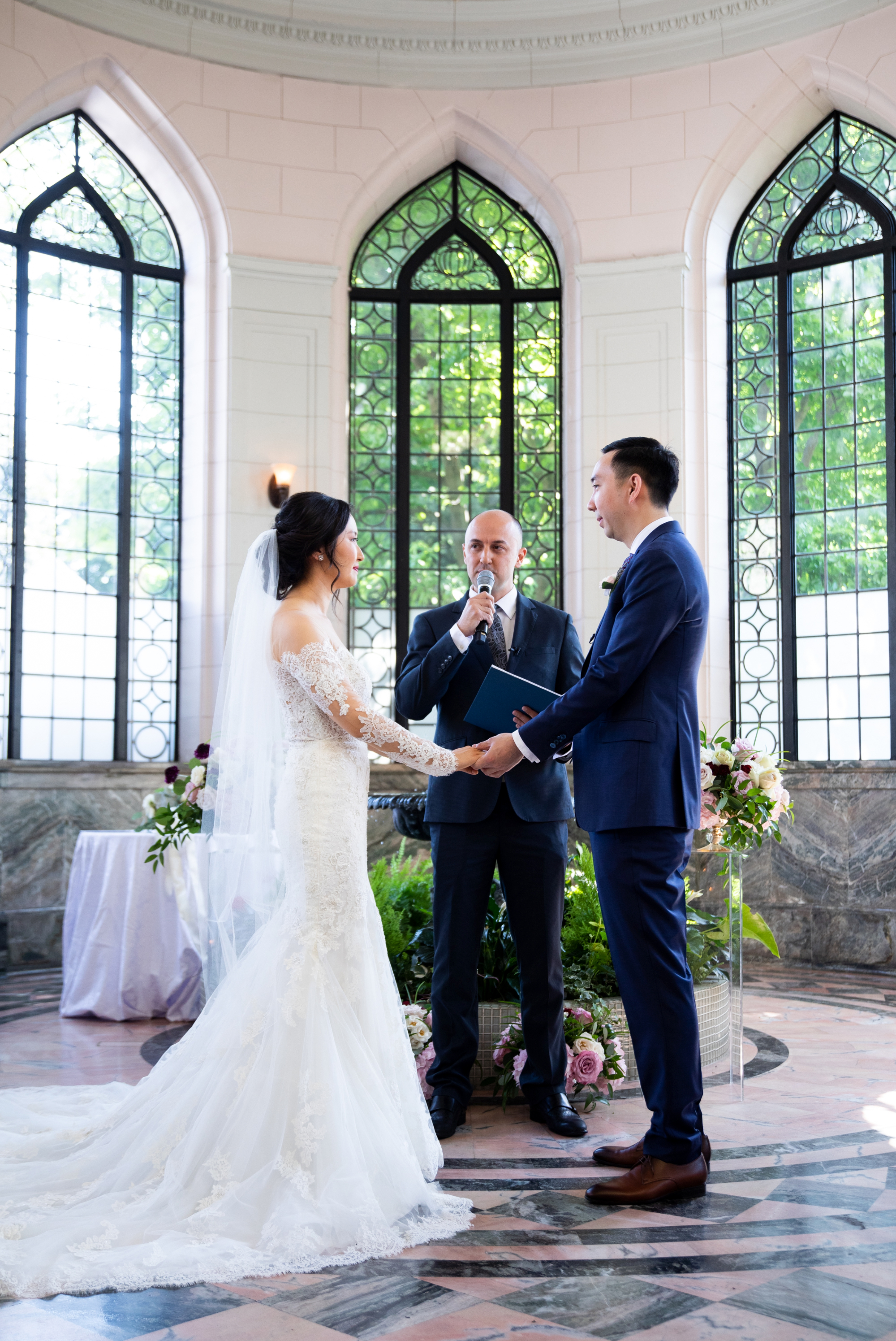 Lace Dress Pronovias Toronto Casa Loma Four Seasons Chinese Wedding Zsuzsi Pal Photography Cindy Brian
