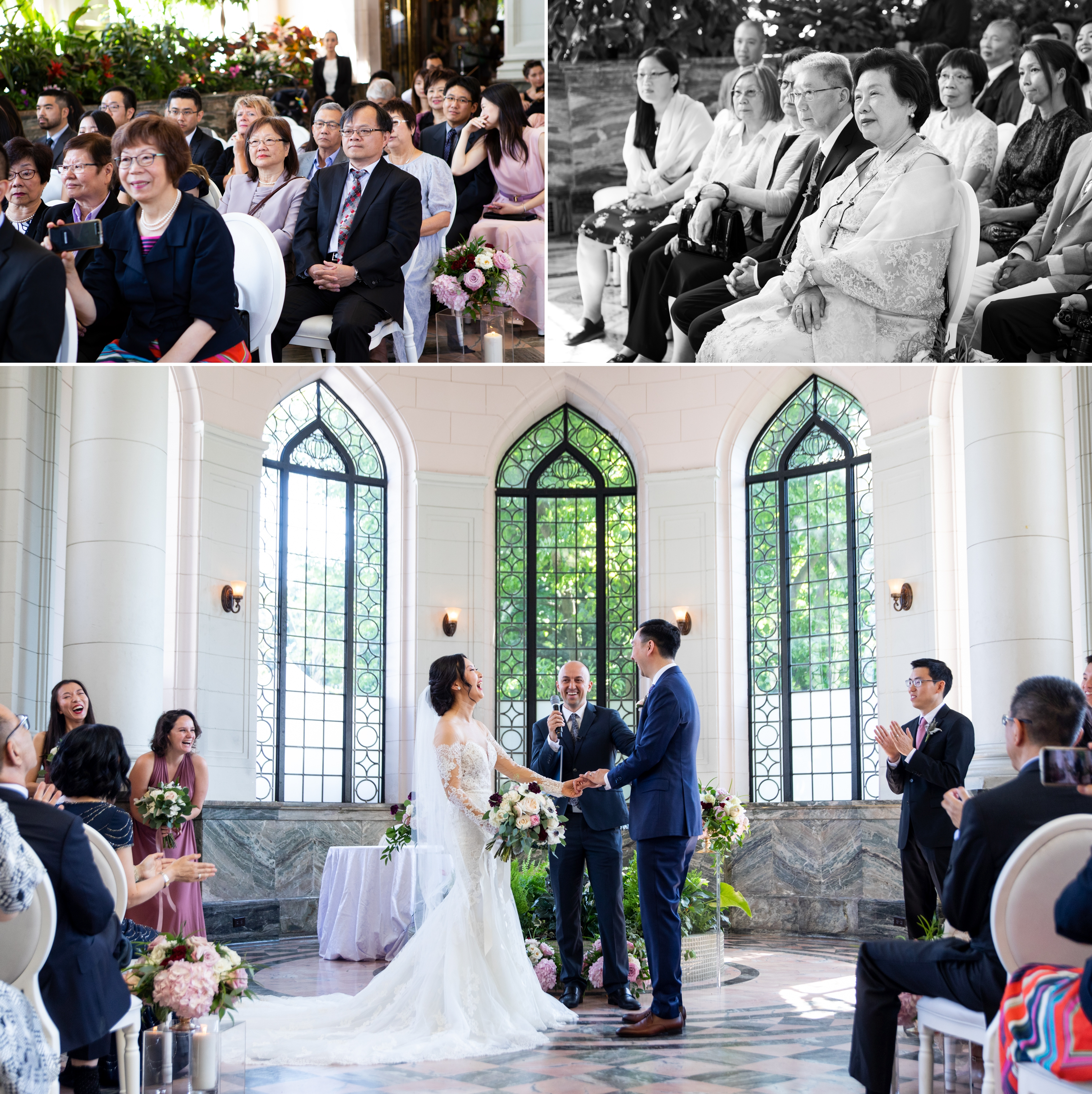 Ceremony Guests Candid Toronto Casa Loma Four Seasons Chinese Wedding Zsuzsi Pal Photography Cindy Brian
