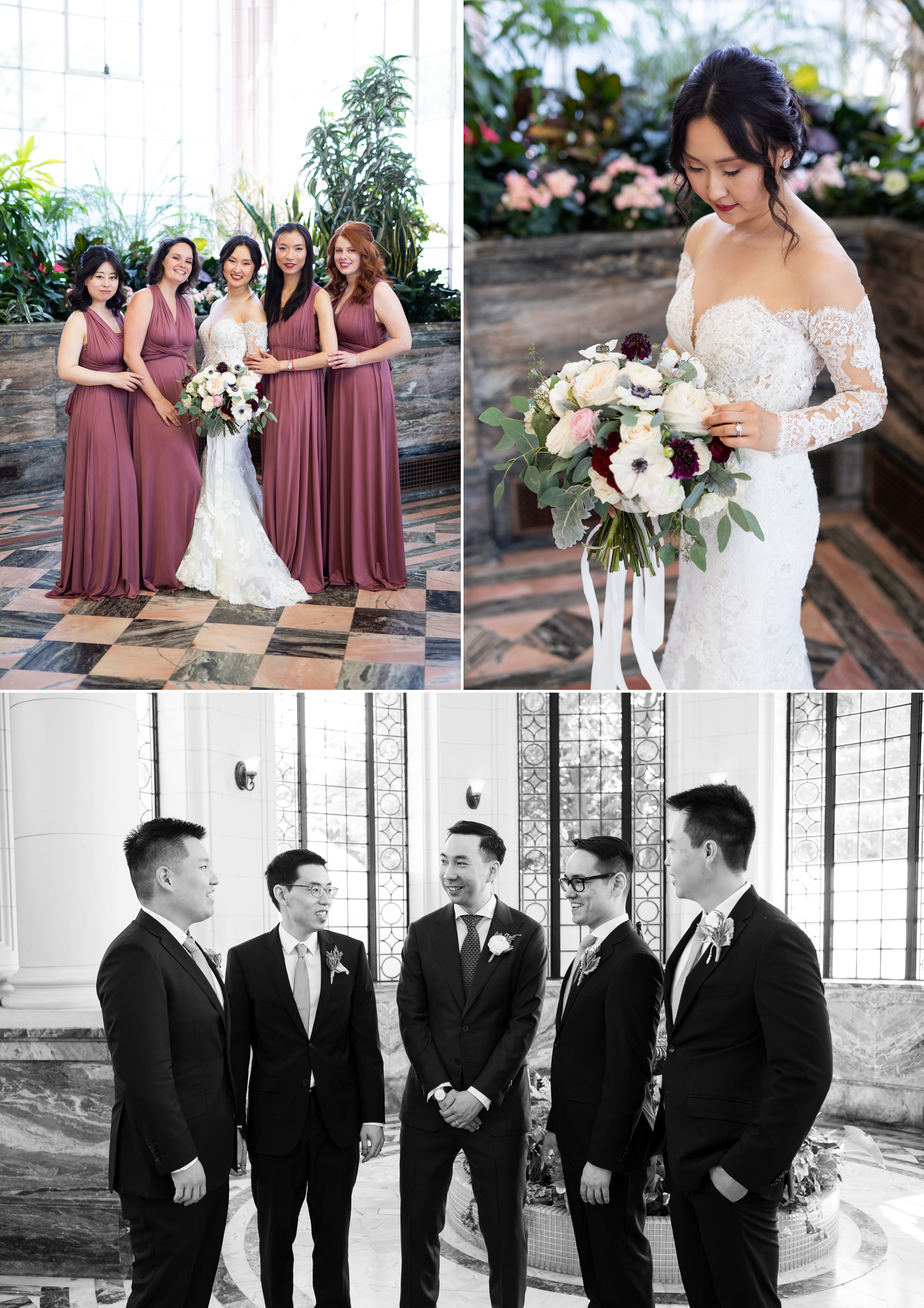 Bridesmaids Groomsmen Toronto Casa Loma Four Seasons Chinese Wedding Zsuzsi Pal Photography Cindy Brian