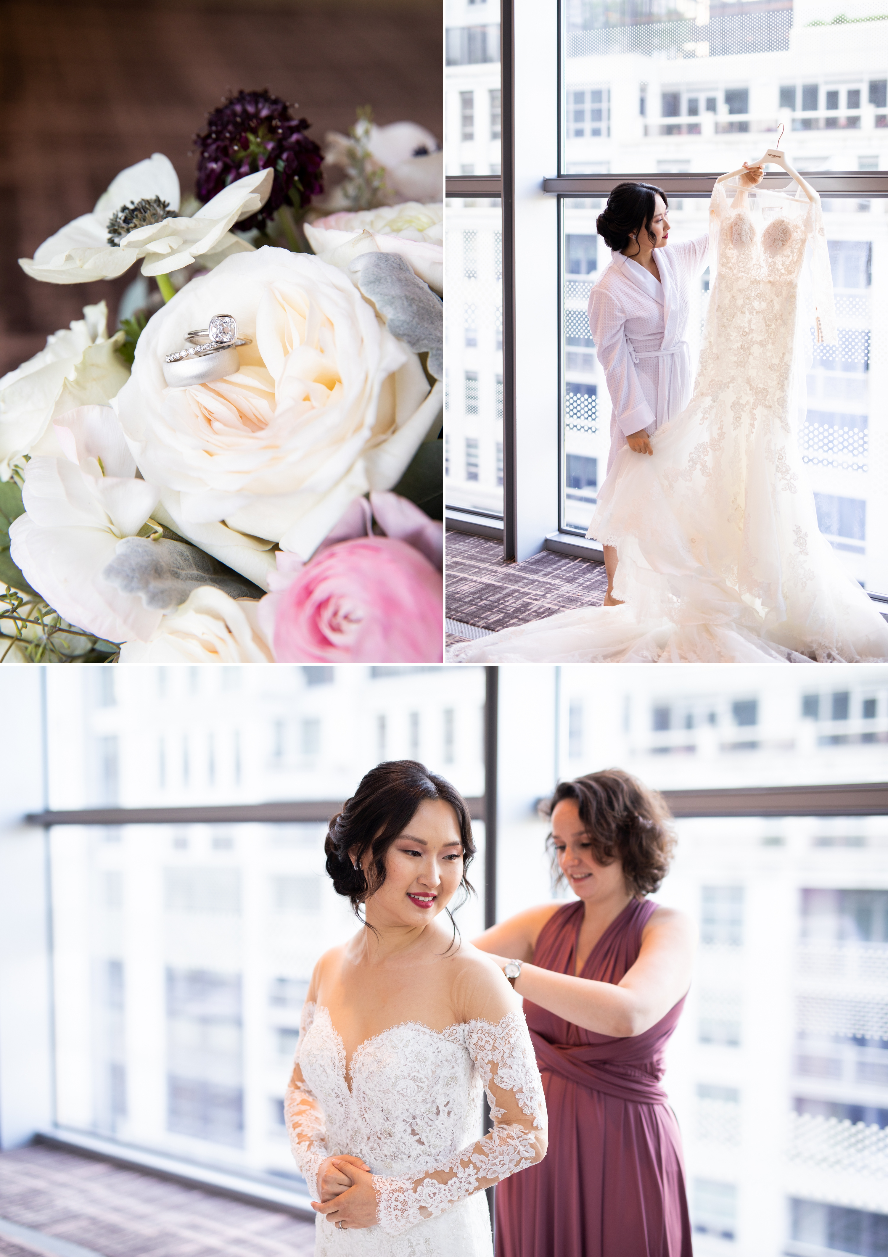 Engagement ring Dress Four Seasons Chinese Wedding Zsuzsi Pal Photography Cindy Brian