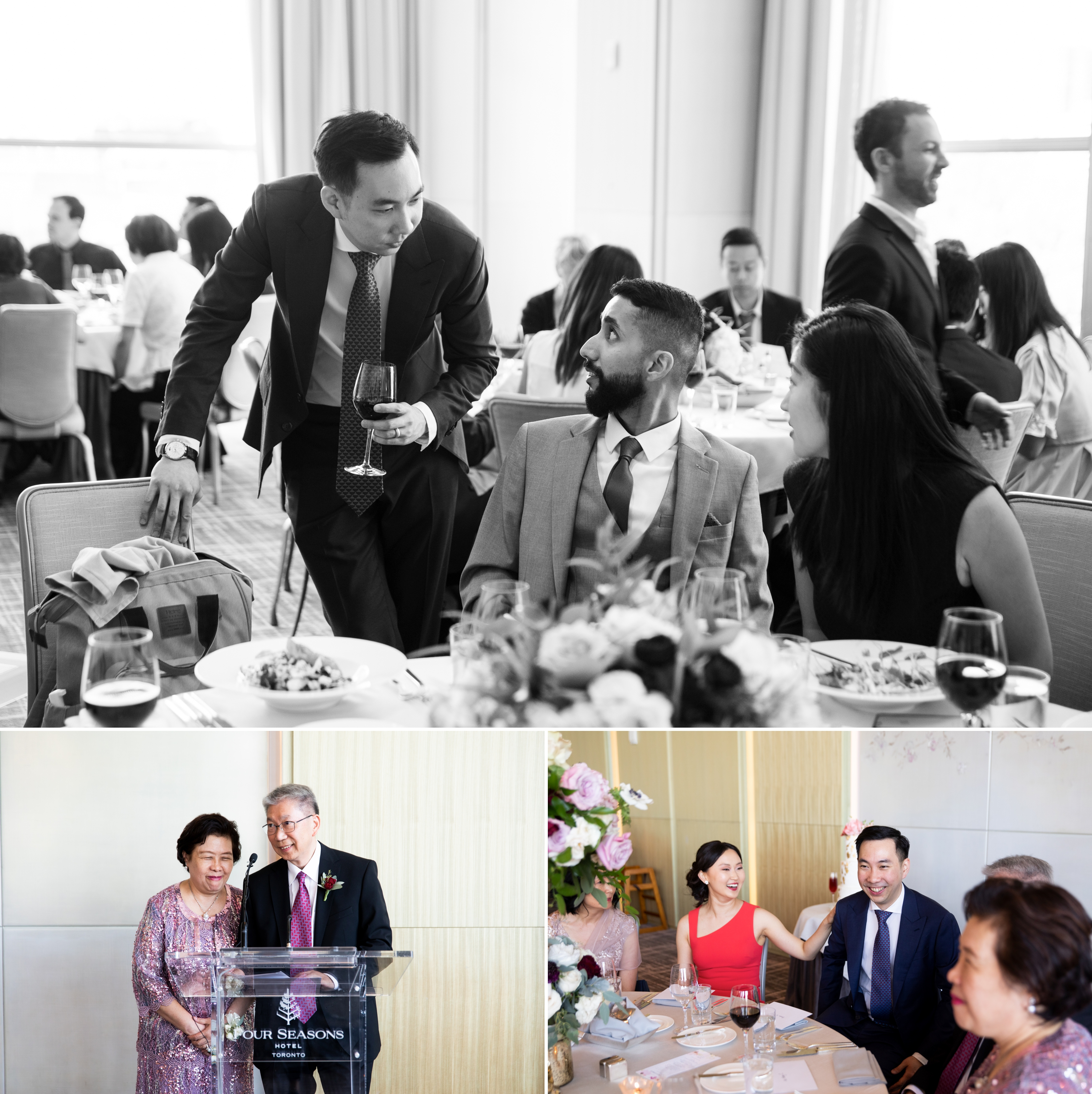 Cheers Speech Toronto Casa Loma Four Seasons Chinese Wedding Zsuzsi Pal Photography Cindy Brian