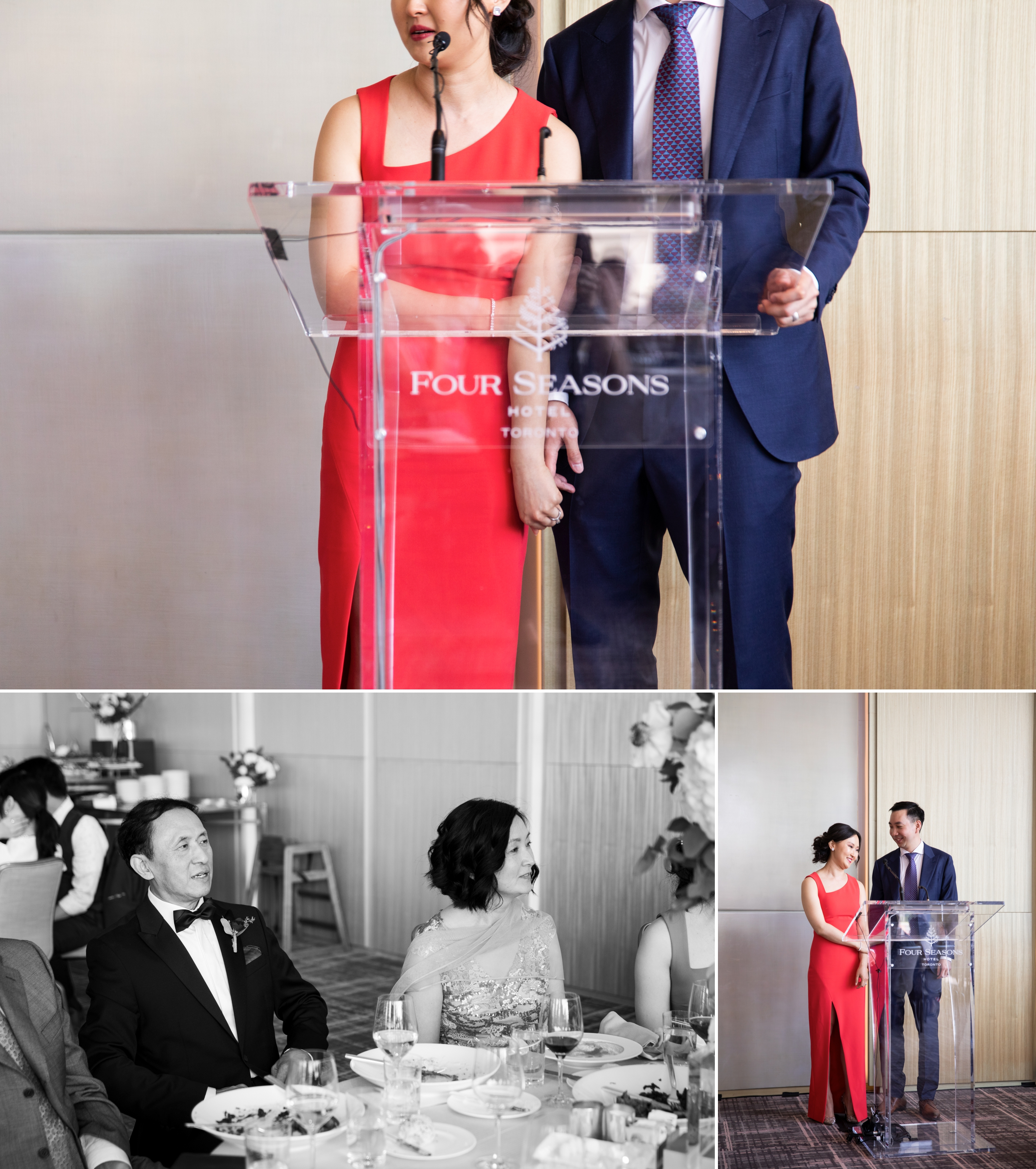 Bride Groom Speech Toronto Casa Loma Four Seasons Chinese Wedding Zsuzsi Pal Photography Cindy Brian