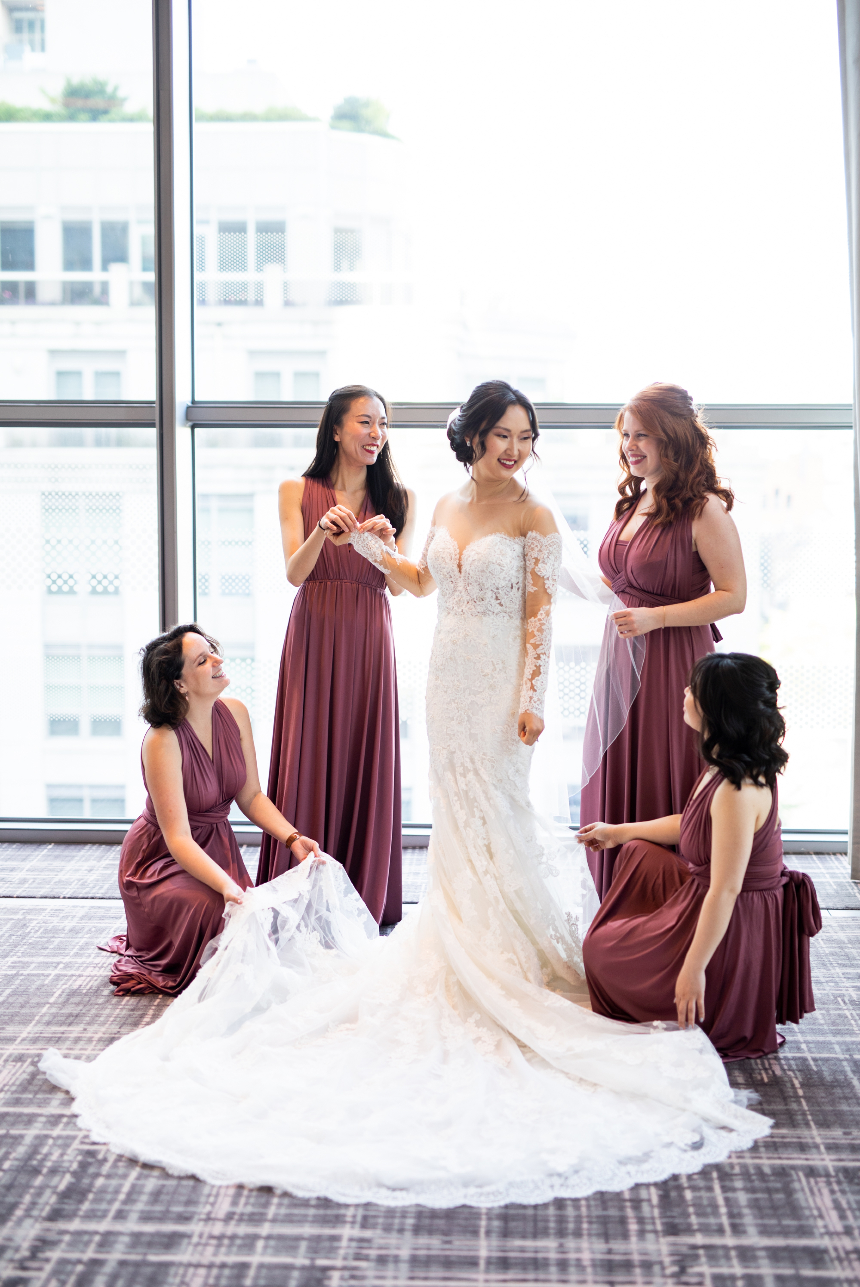Bridesmaids Henkaa Dress Four Seasons Chinese Wedding Zsuzsi Pal Photography Cindy Brian