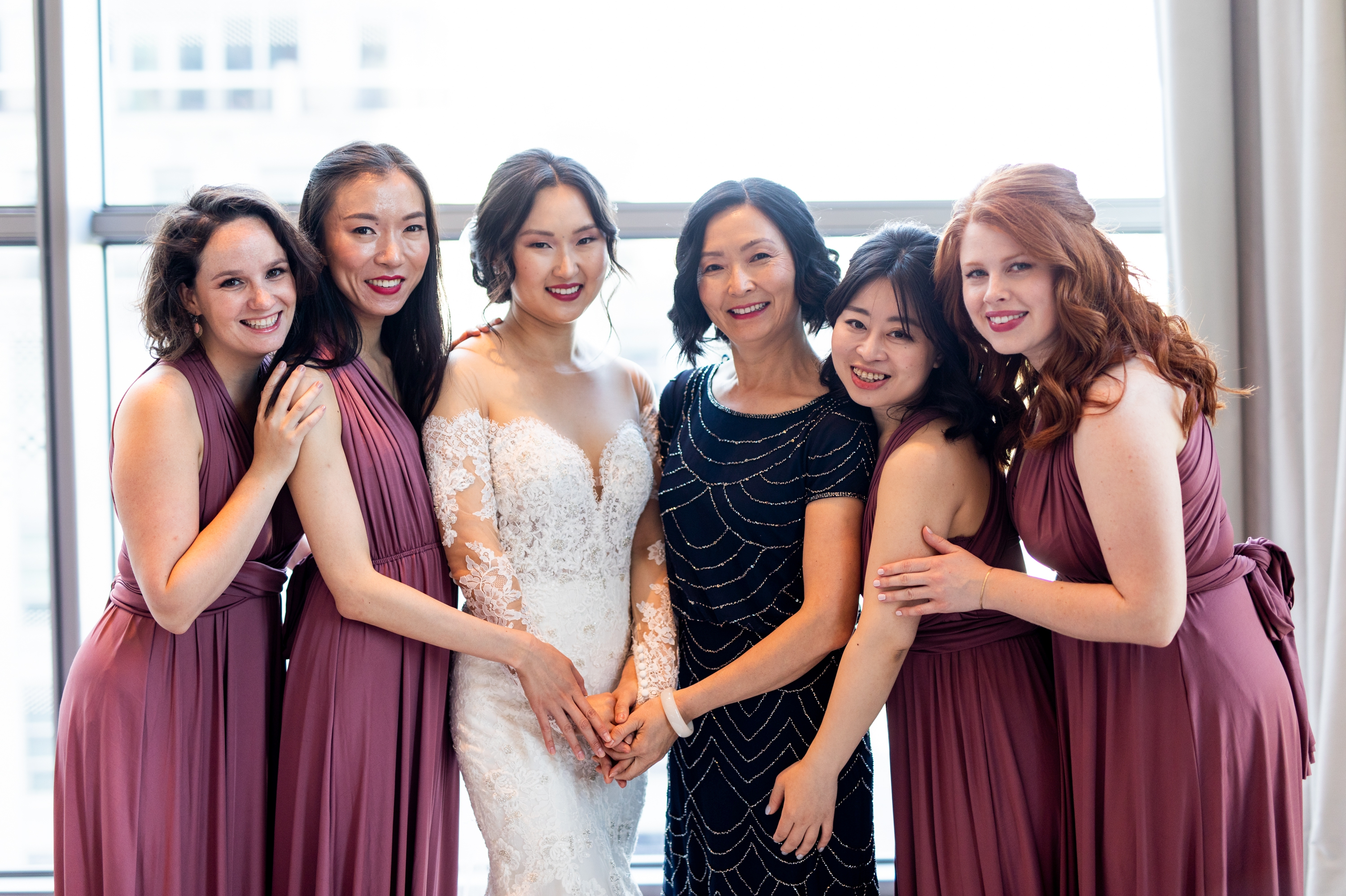Bridesmaids Four Seasons Chinese Wedding Zsuzsi Pal Photography Cindy Brian
